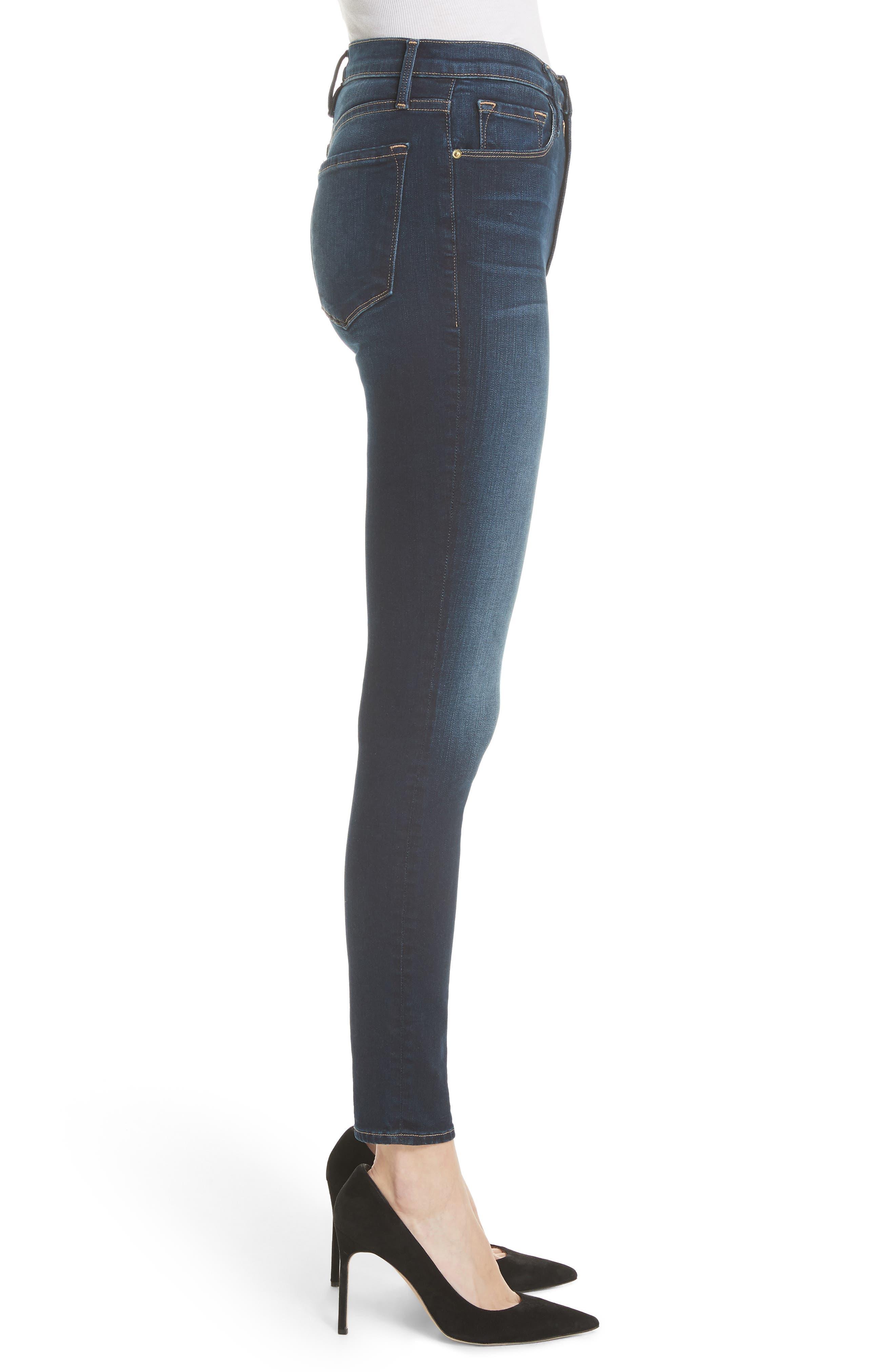 Alternate Image 3  - FRAME Ali High Waist Skinny Jeans (Wayside)