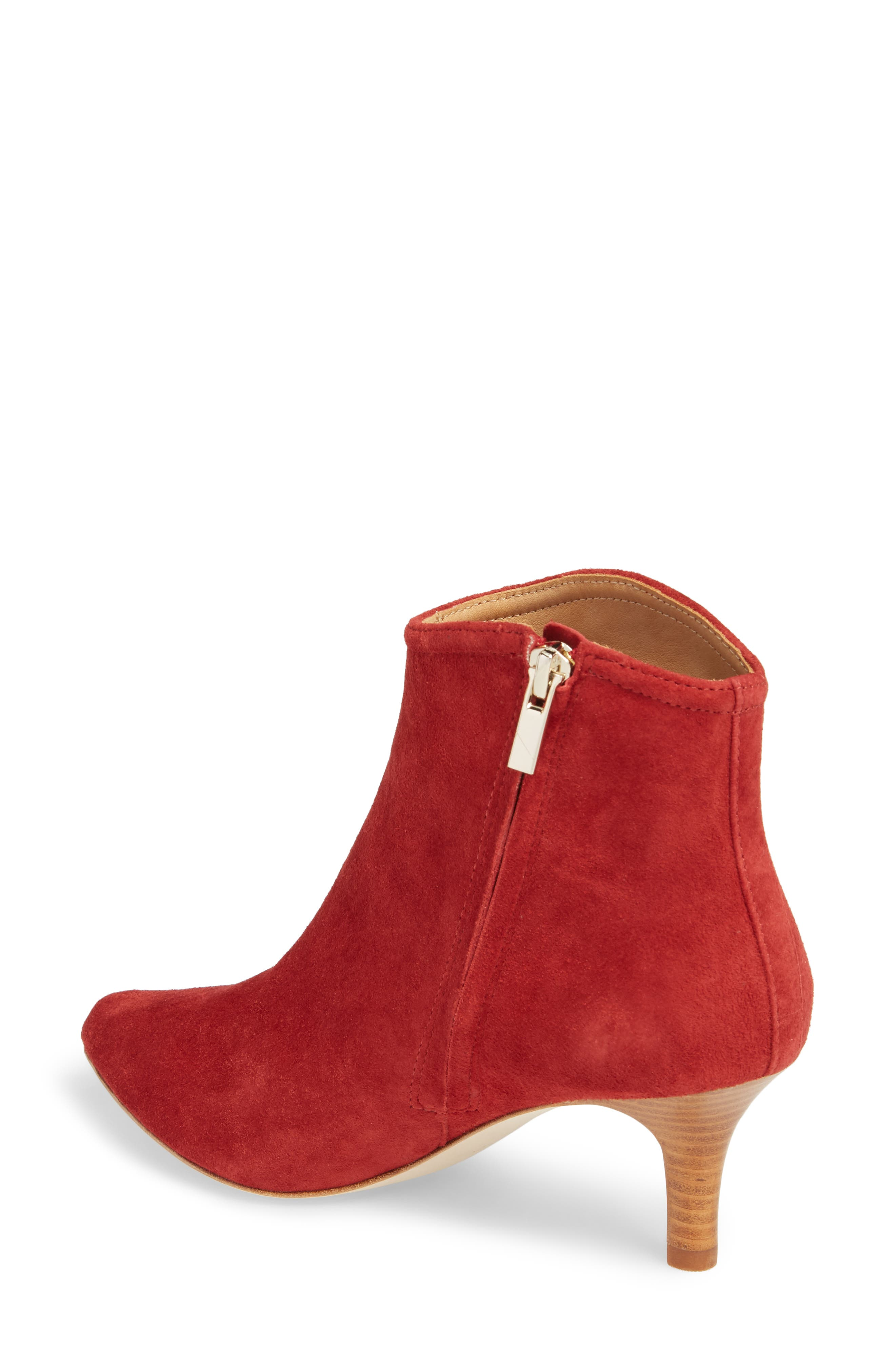 Ralean Almond Toe Bootie,                             Alternate thumbnail 2, color,                             Currant