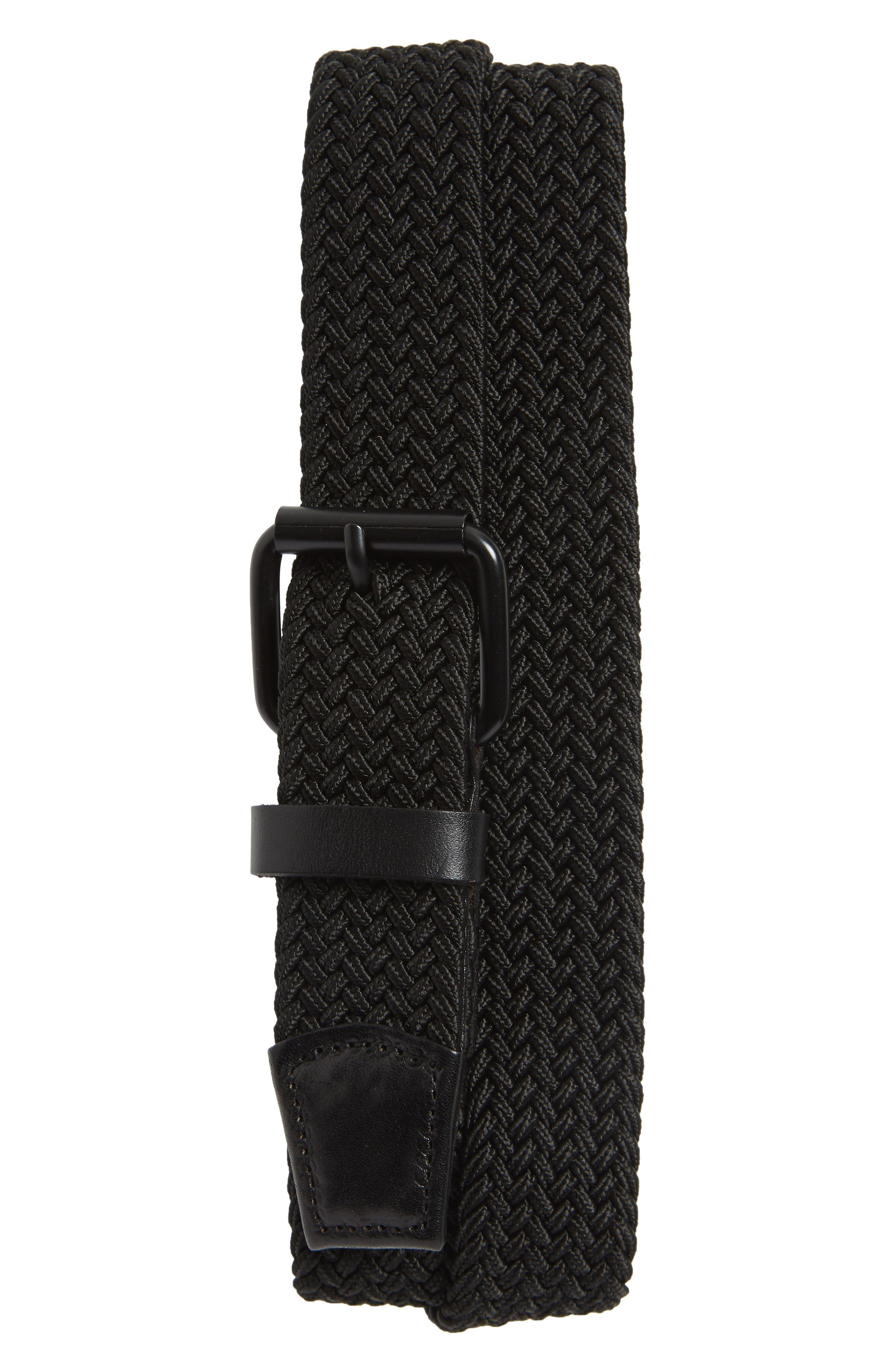 Shane Woven Belt,                             Main thumbnail 1, color,                             Black