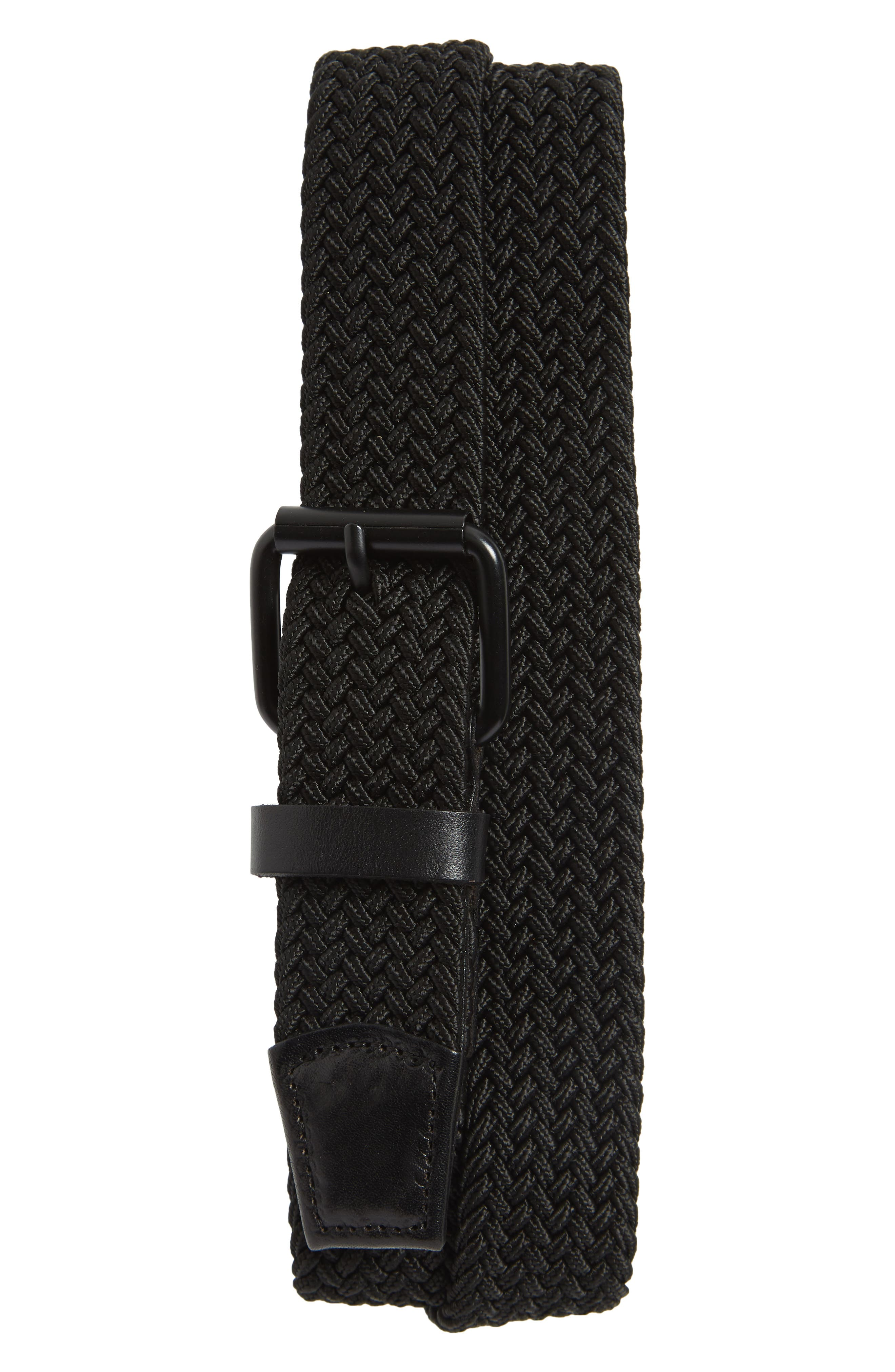 Shane Woven Belt,                         Main,                         color, Black