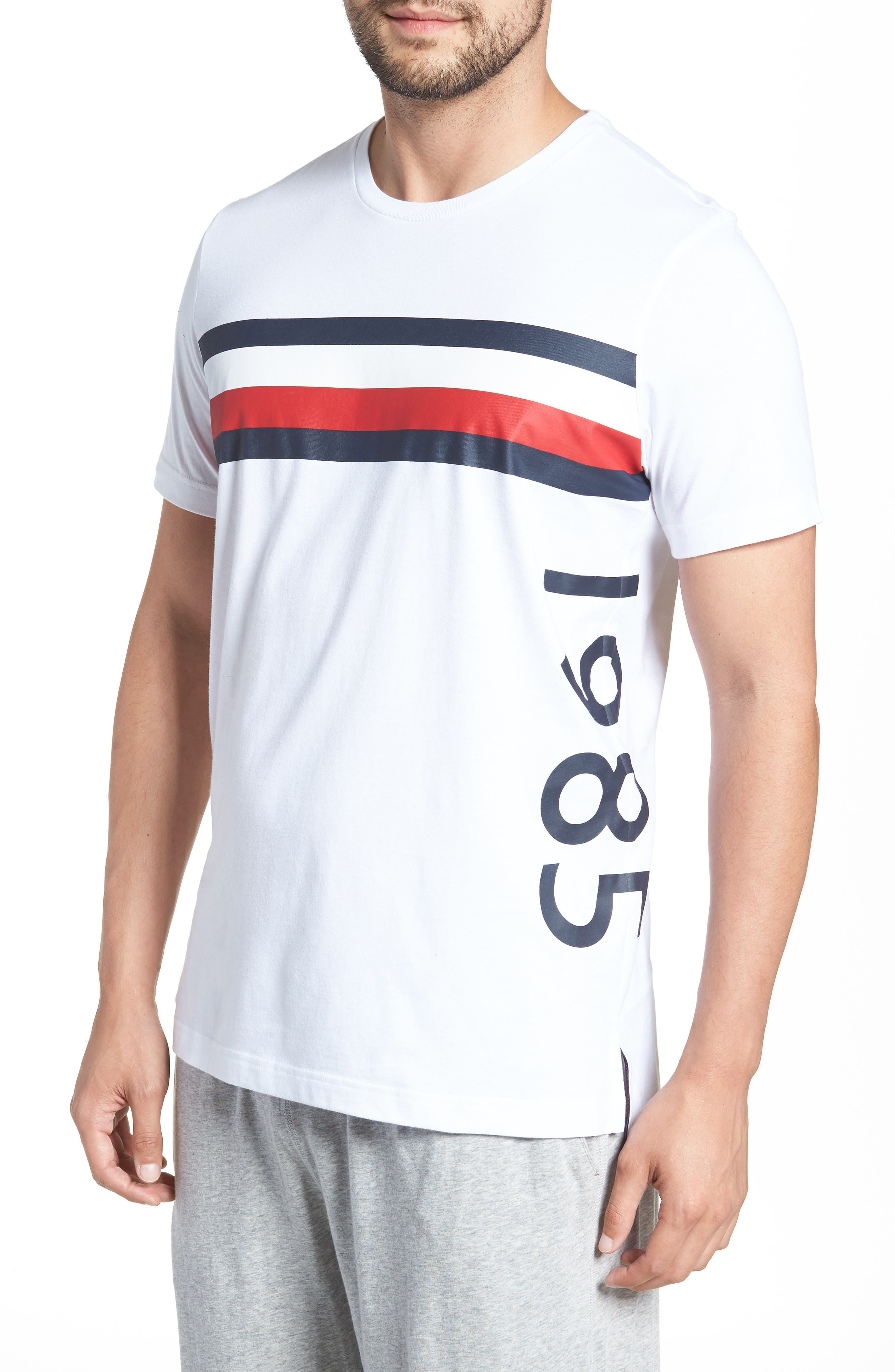 1985 Stripe T-Shirt,                             Alternate thumbnail 3, color,                             White
