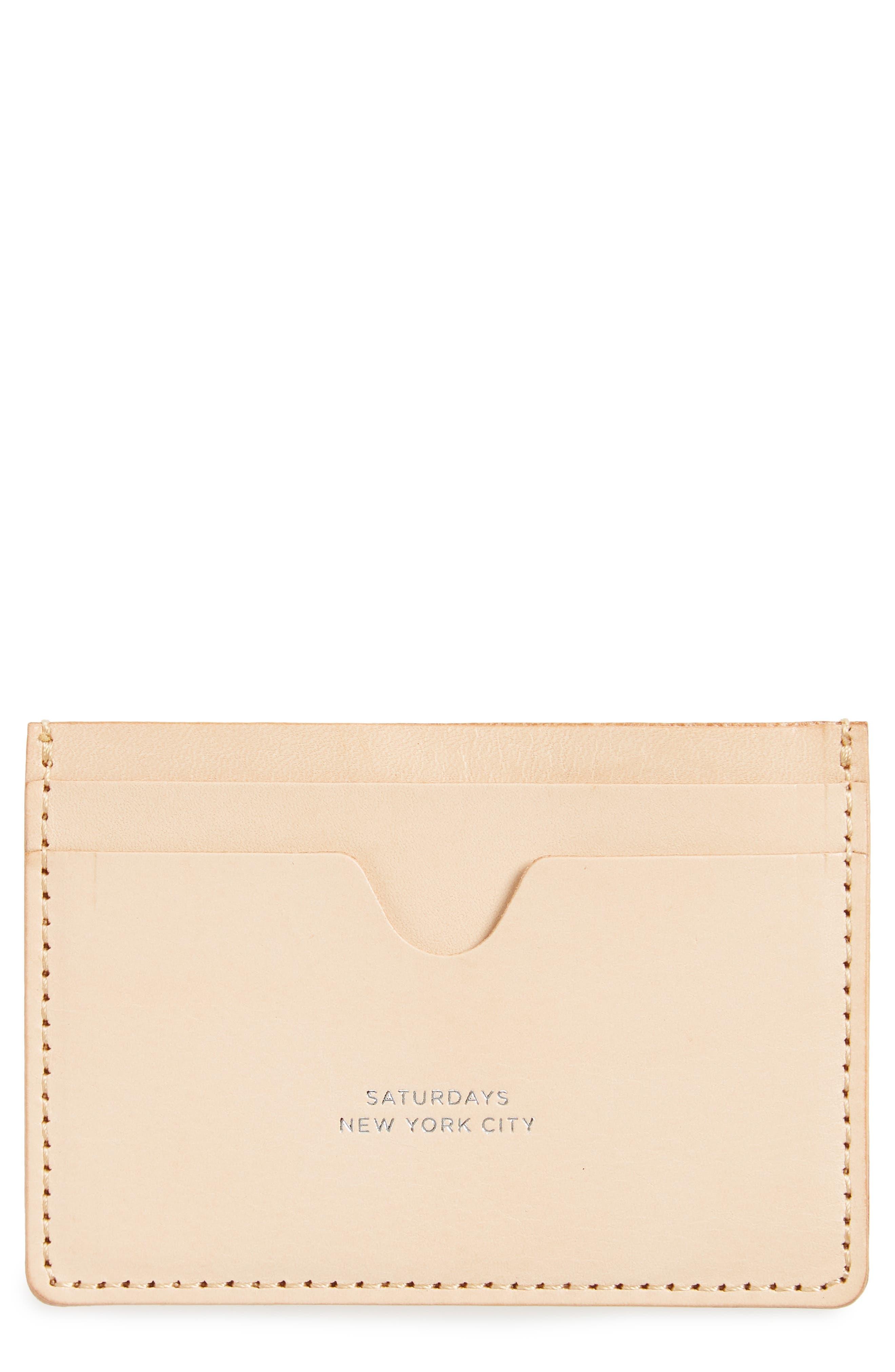 Saturdays NYC Ryan Leather Card Case