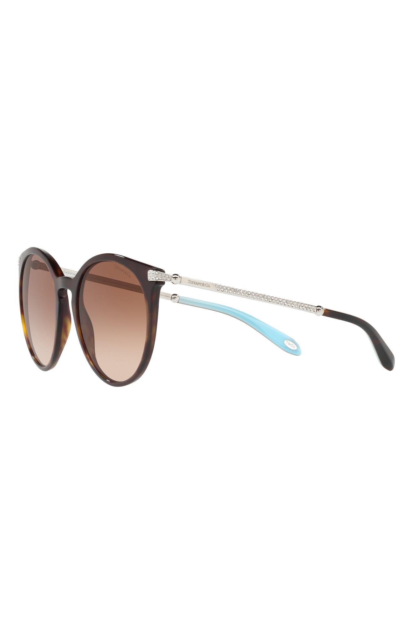 54mm Gradient Round Sunglasses,                             Alternate thumbnail 2, color,                             Dark Havana
