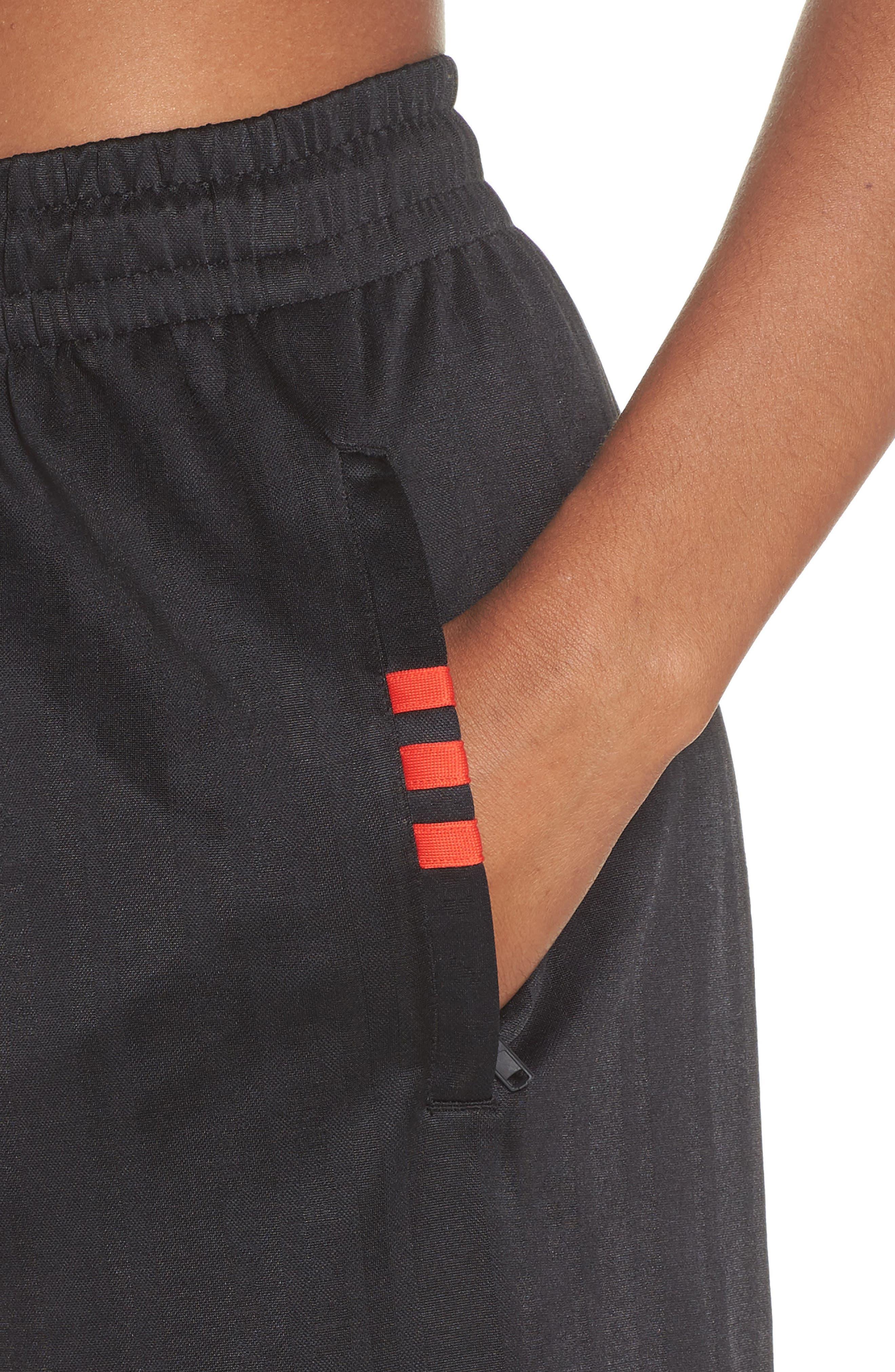 Soccer Shorts,                             Alternate thumbnail 4, color,                             Black/ Core Red