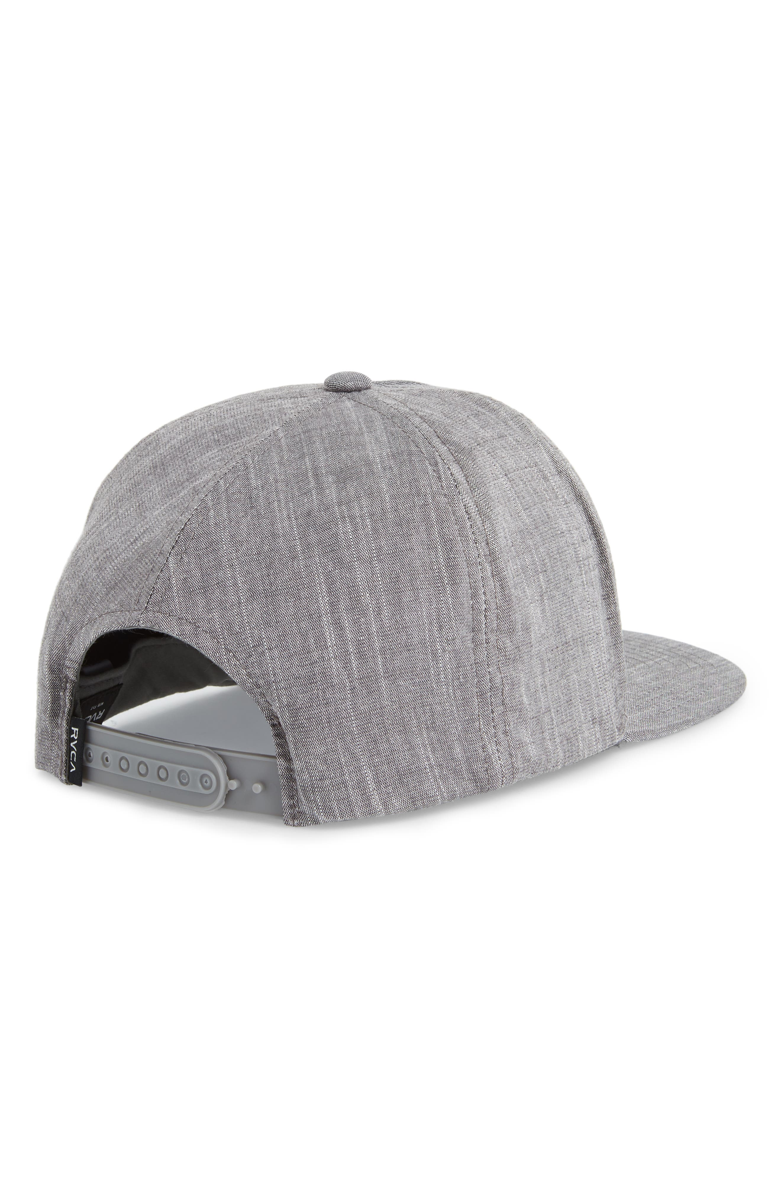 Finley Snapback Cap,                             Alternate thumbnail 2, color,                             Black Heather