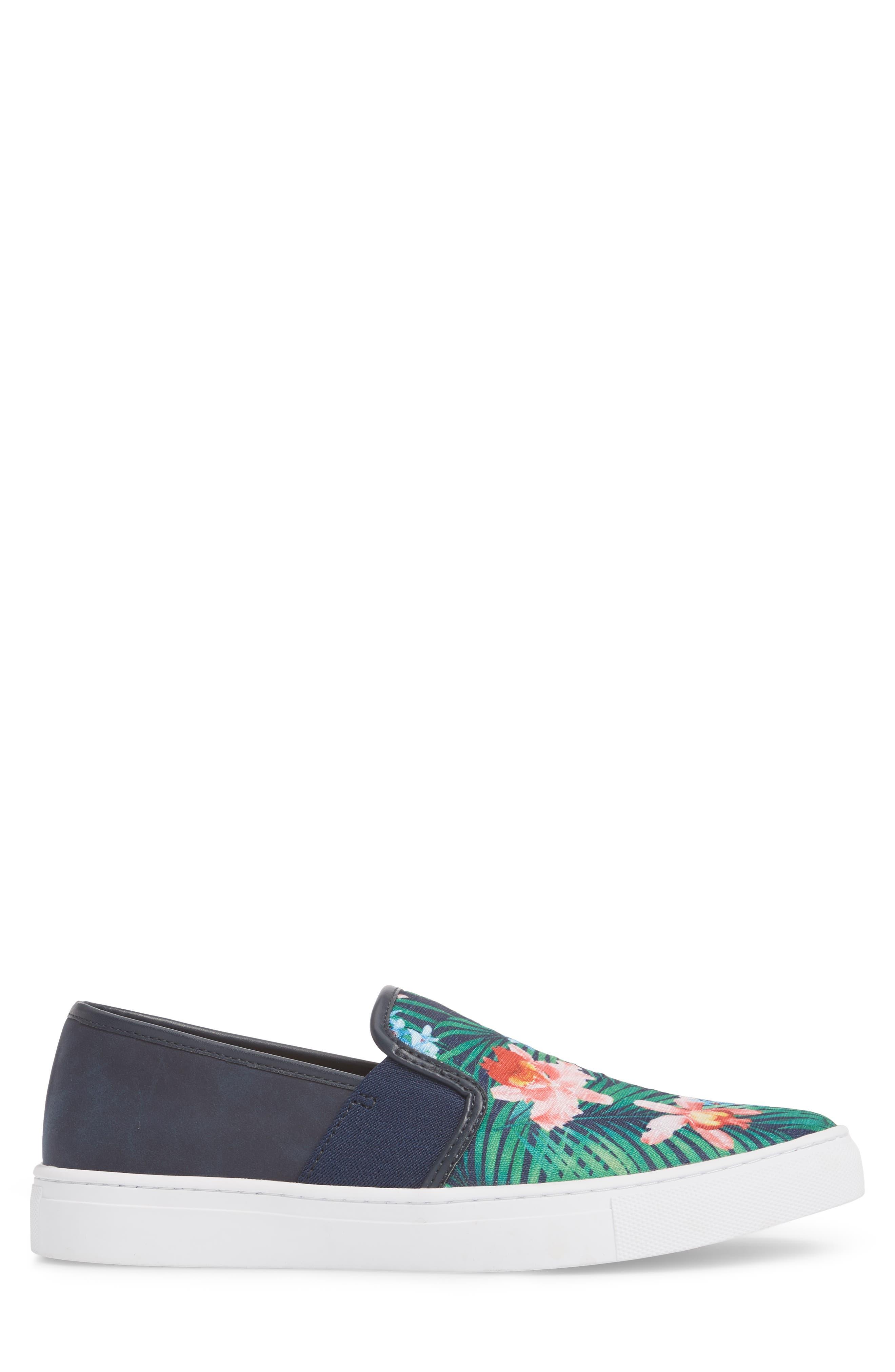 Fish 'N' Chips Bali Slip-On Sneaker,                             Alternate thumbnail 3, color,                             Navy Multi Fabric