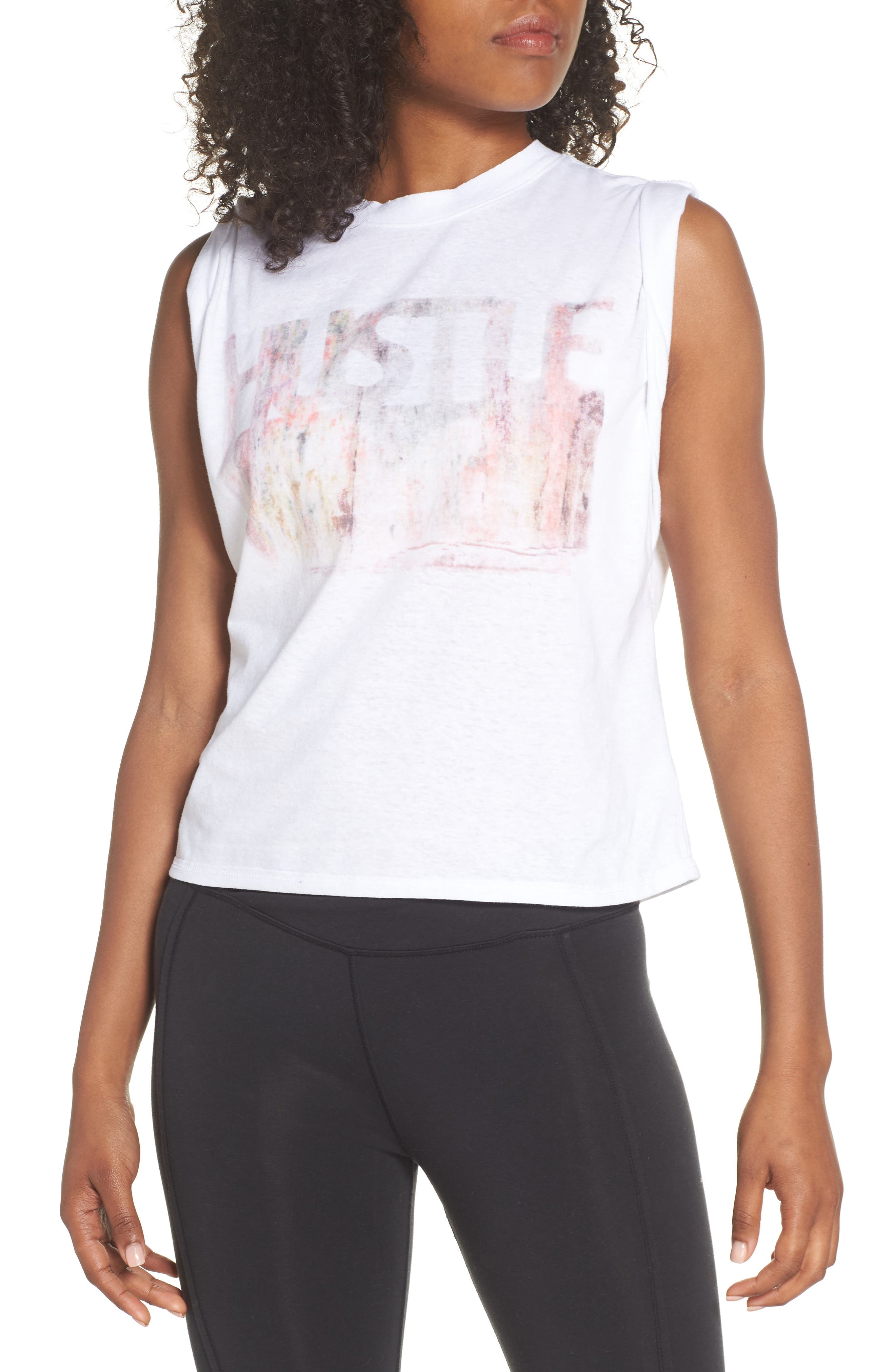 Free People Hustle Tank,                         Main,                         color, White