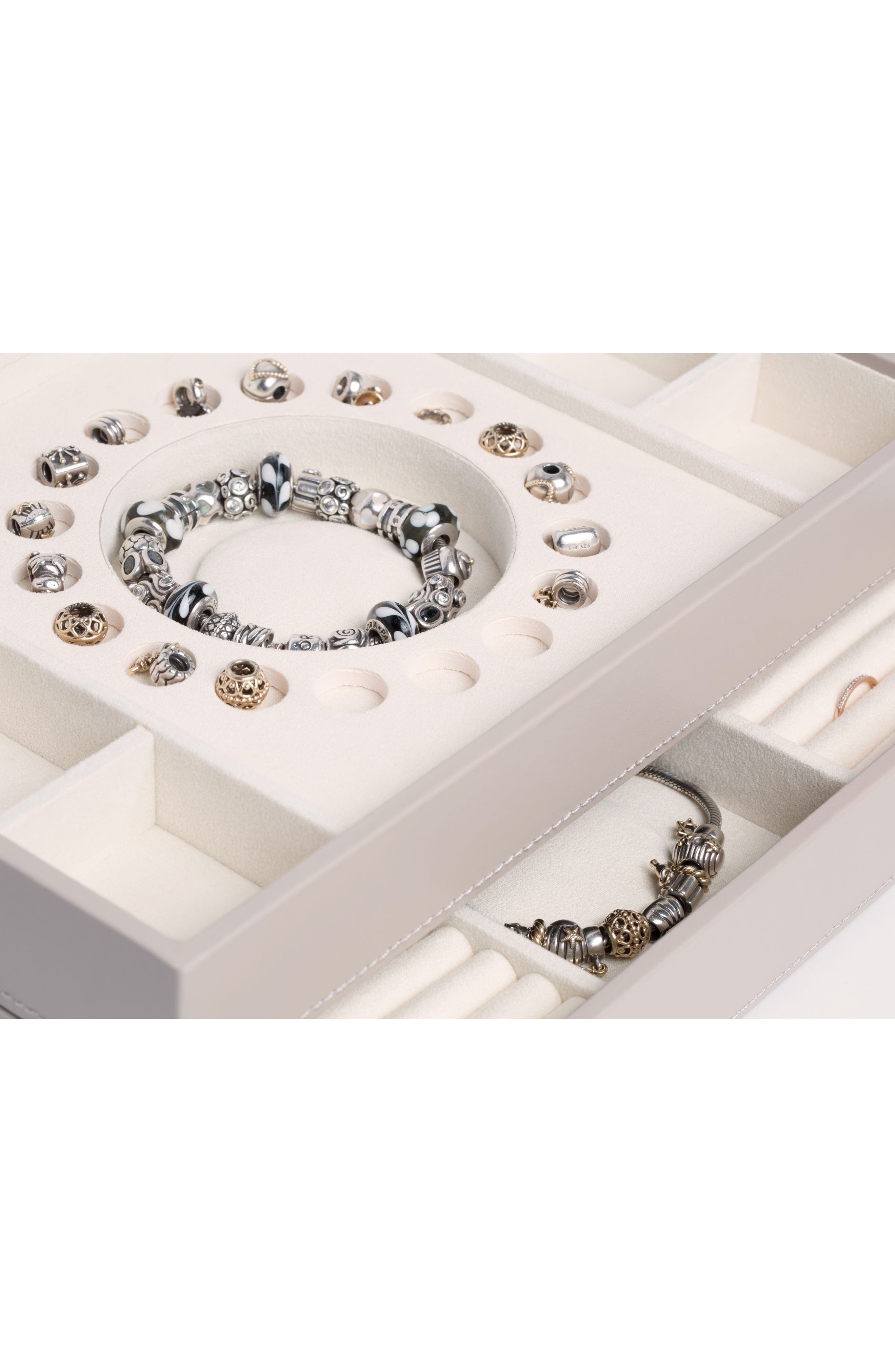 Sophia Stackable Jewelry Tray Set,                             Alternate thumbnail 9, color,                             Mink