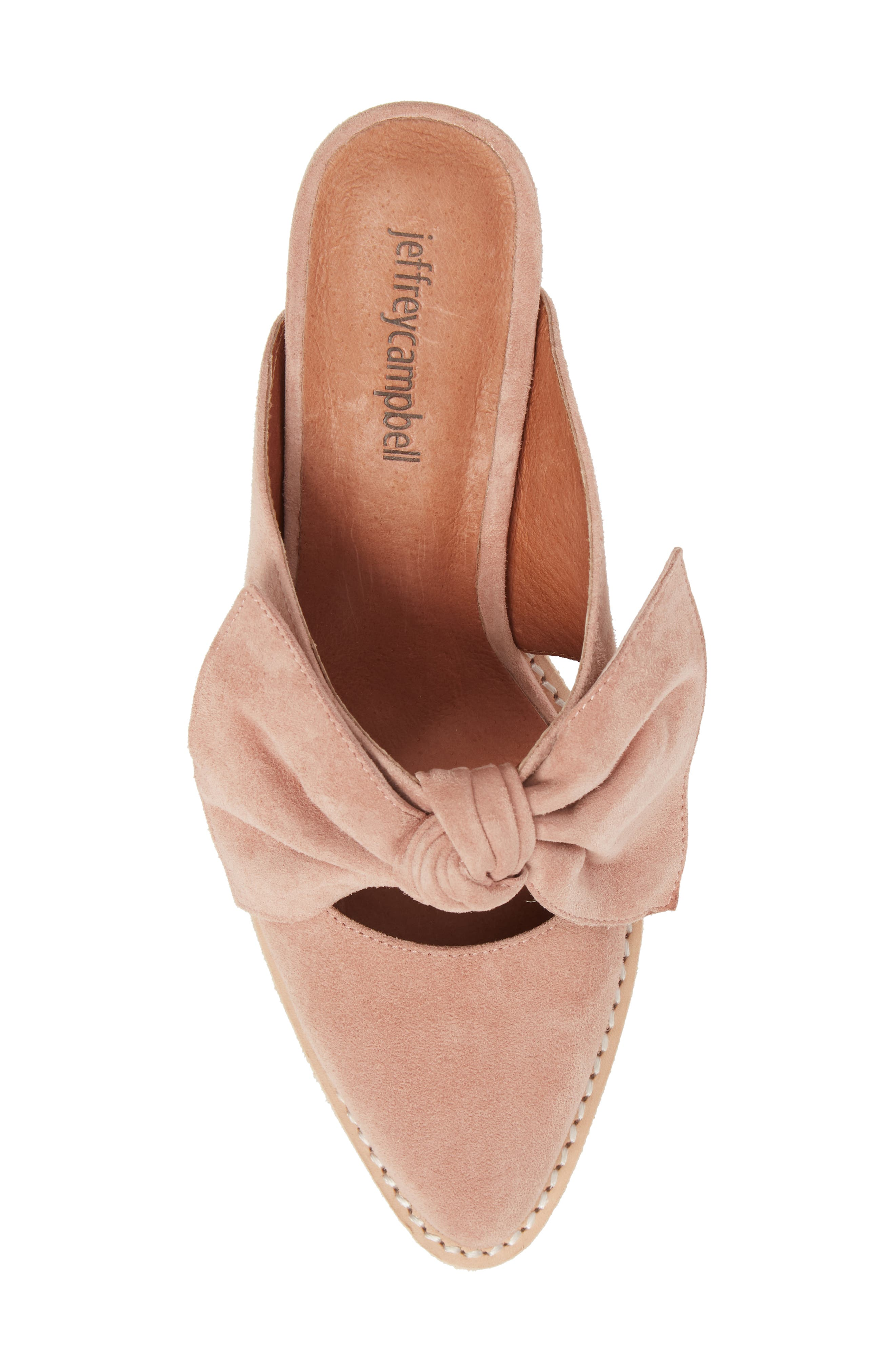 Cyrus Knotted Mary Jane Mule,                             Alternate thumbnail 5, color,                             Blush Suede