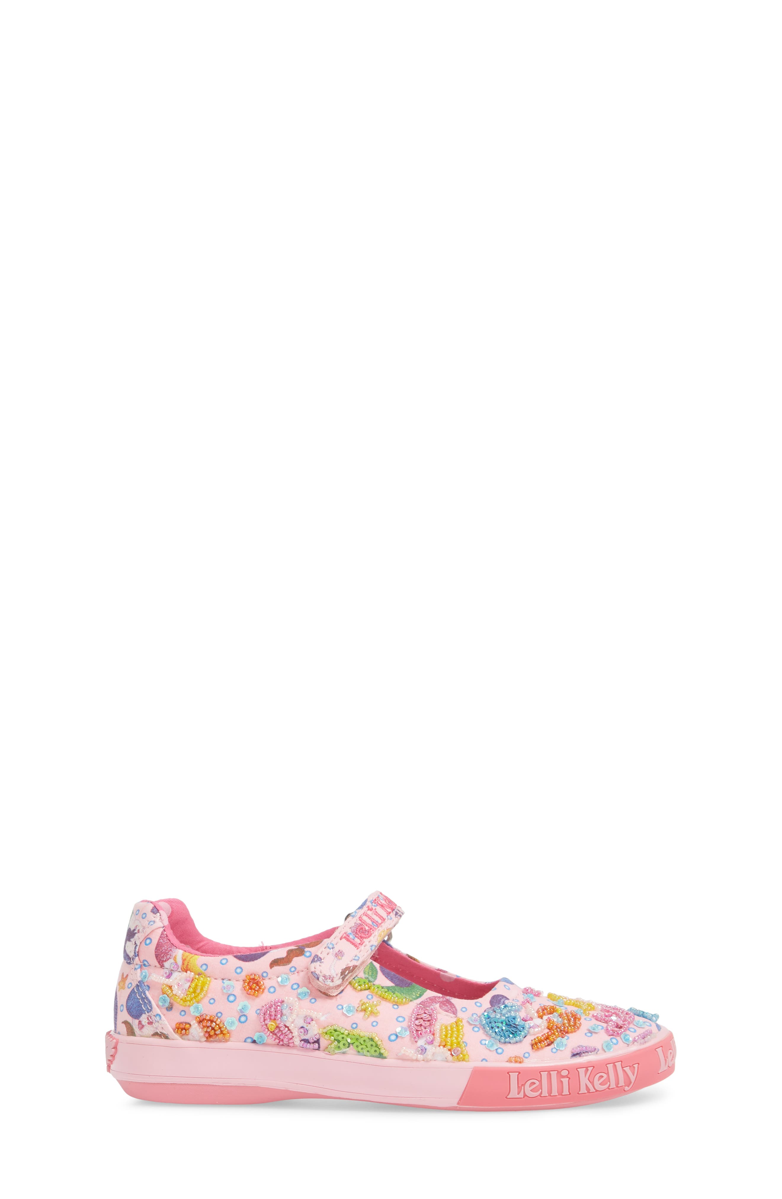 Beaded Mary Jane Sneaker,                             Alternate thumbnail 3, color,                             Pink