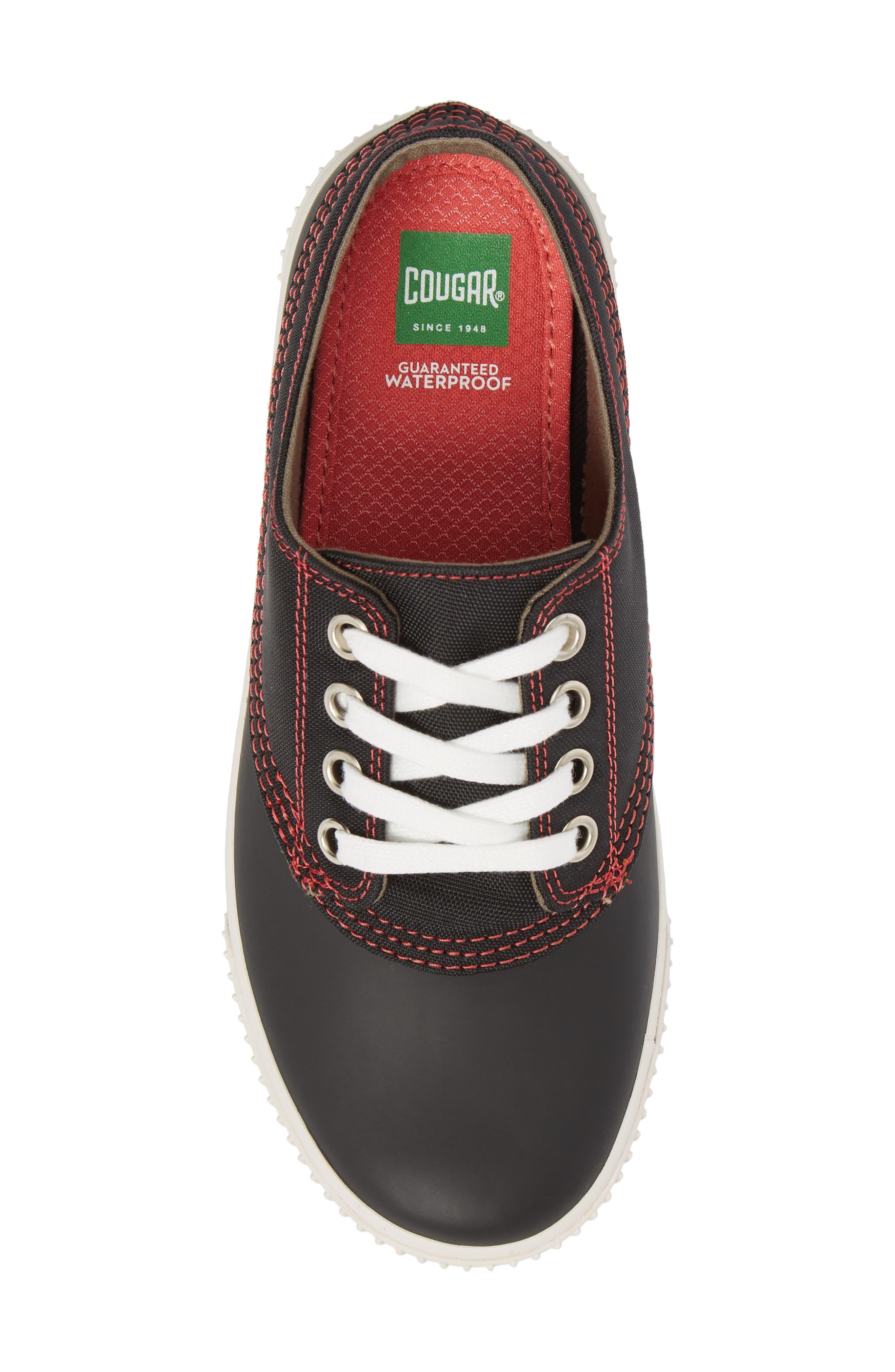Dash Duck Sneaker,                             Alternate thumbnail 5, color,                             Black/ Coral