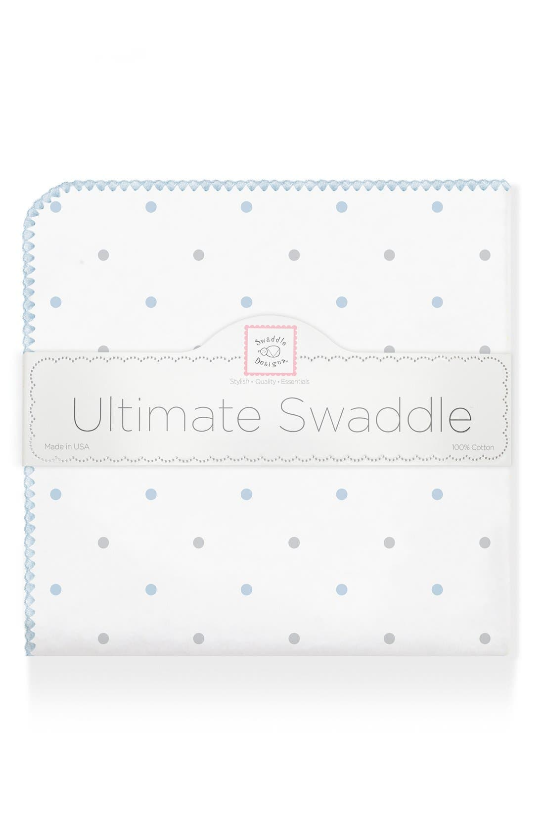 Main Image - Swaddle Designs Polka Dot Receiving Blanket