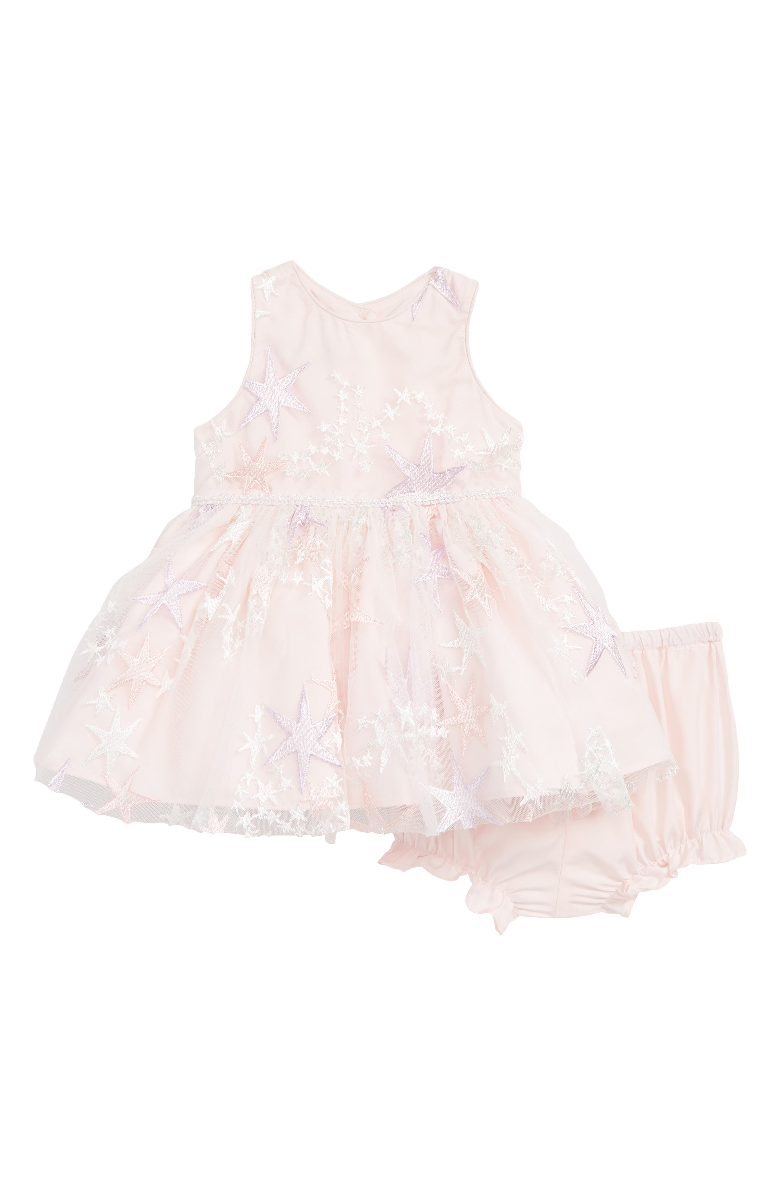Pippa & Julie Embroidered Star Tulle Dress (Baby Girls) Pippa & Julie