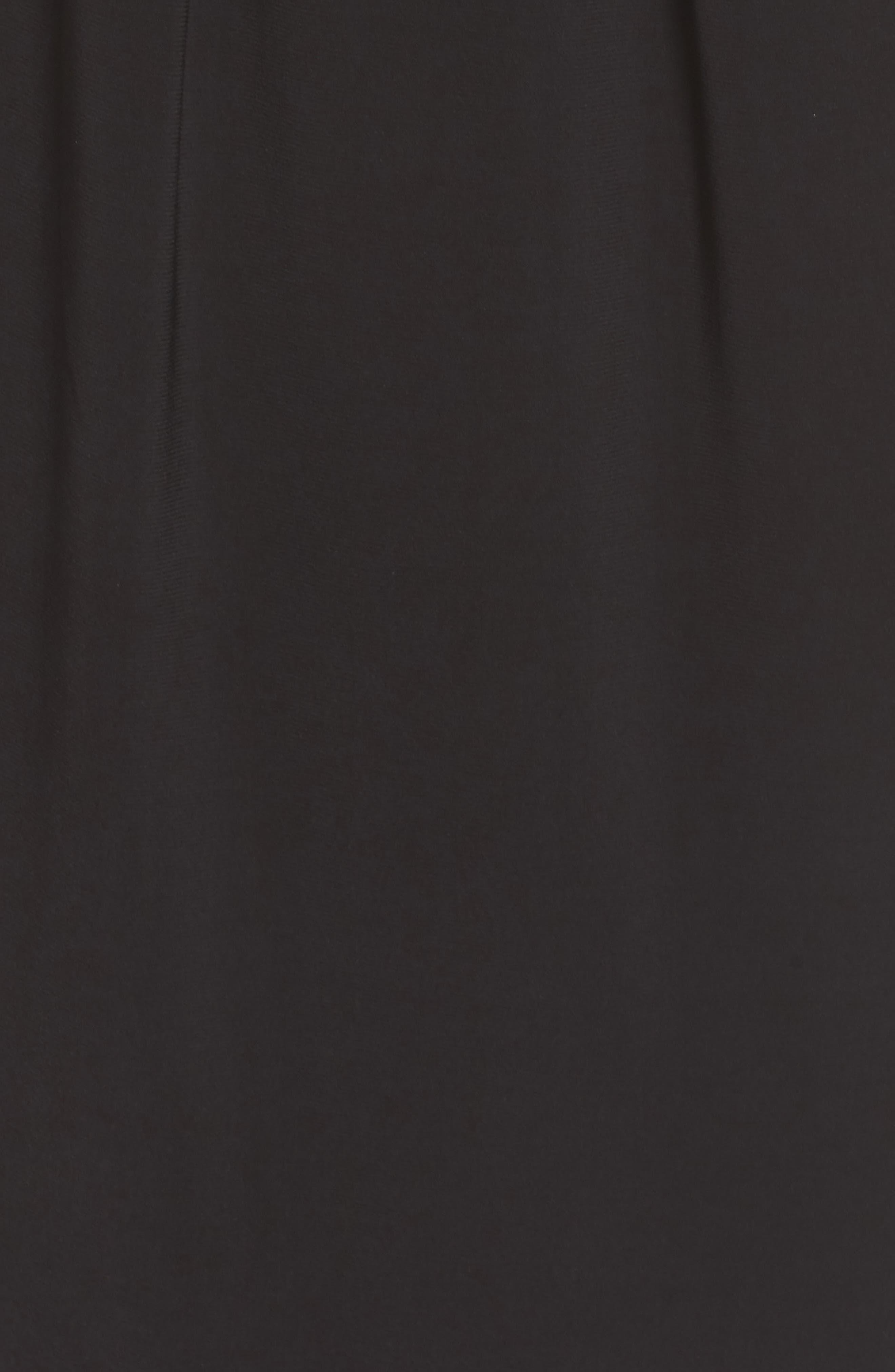 Matte Jersey Sheath Dress,                             Alternate thumbnail 6, color,                             Black