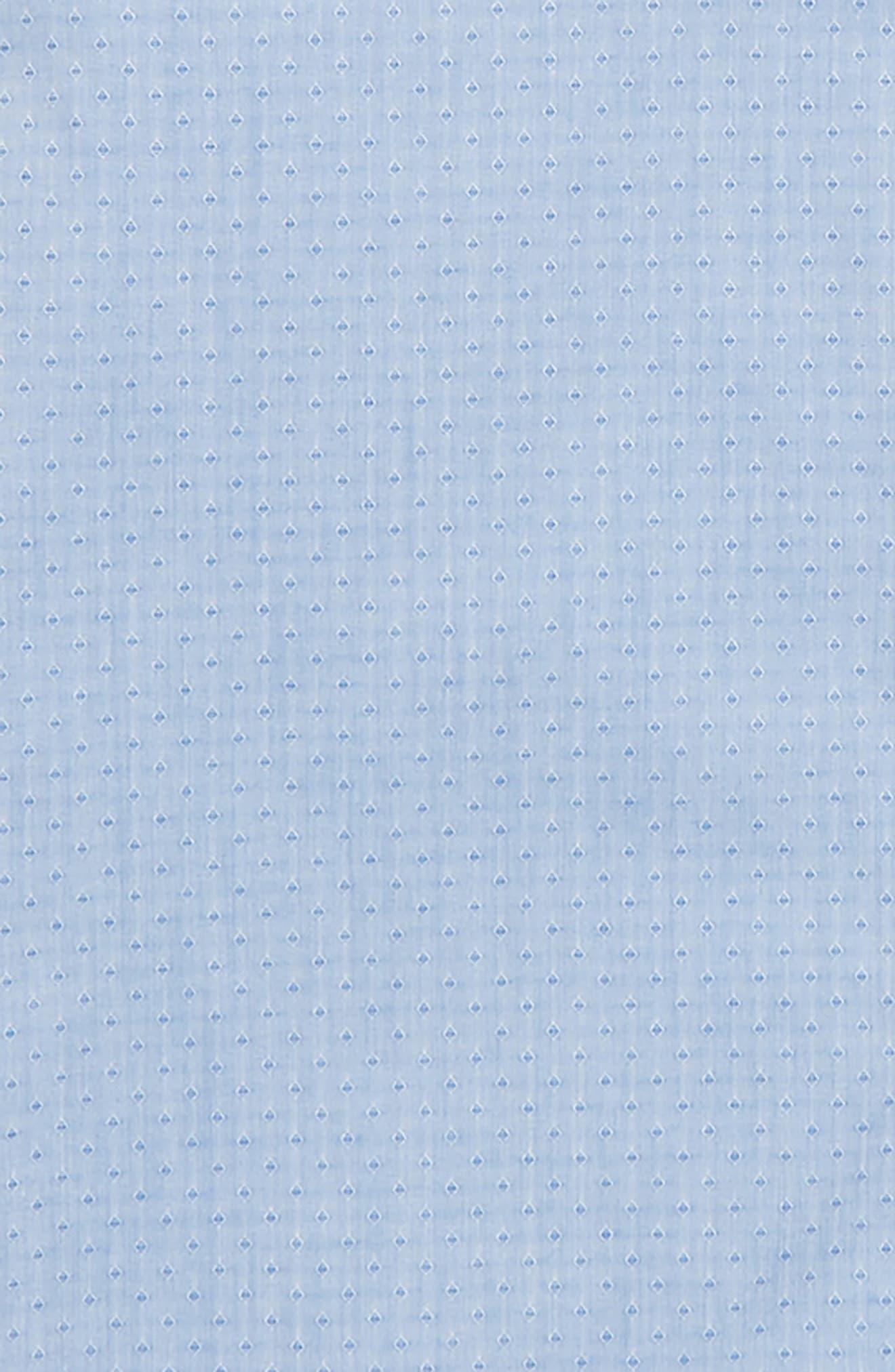 Diamond Print Dress Shirt,                             Alternate thumbnail 2, color,                             Blue
