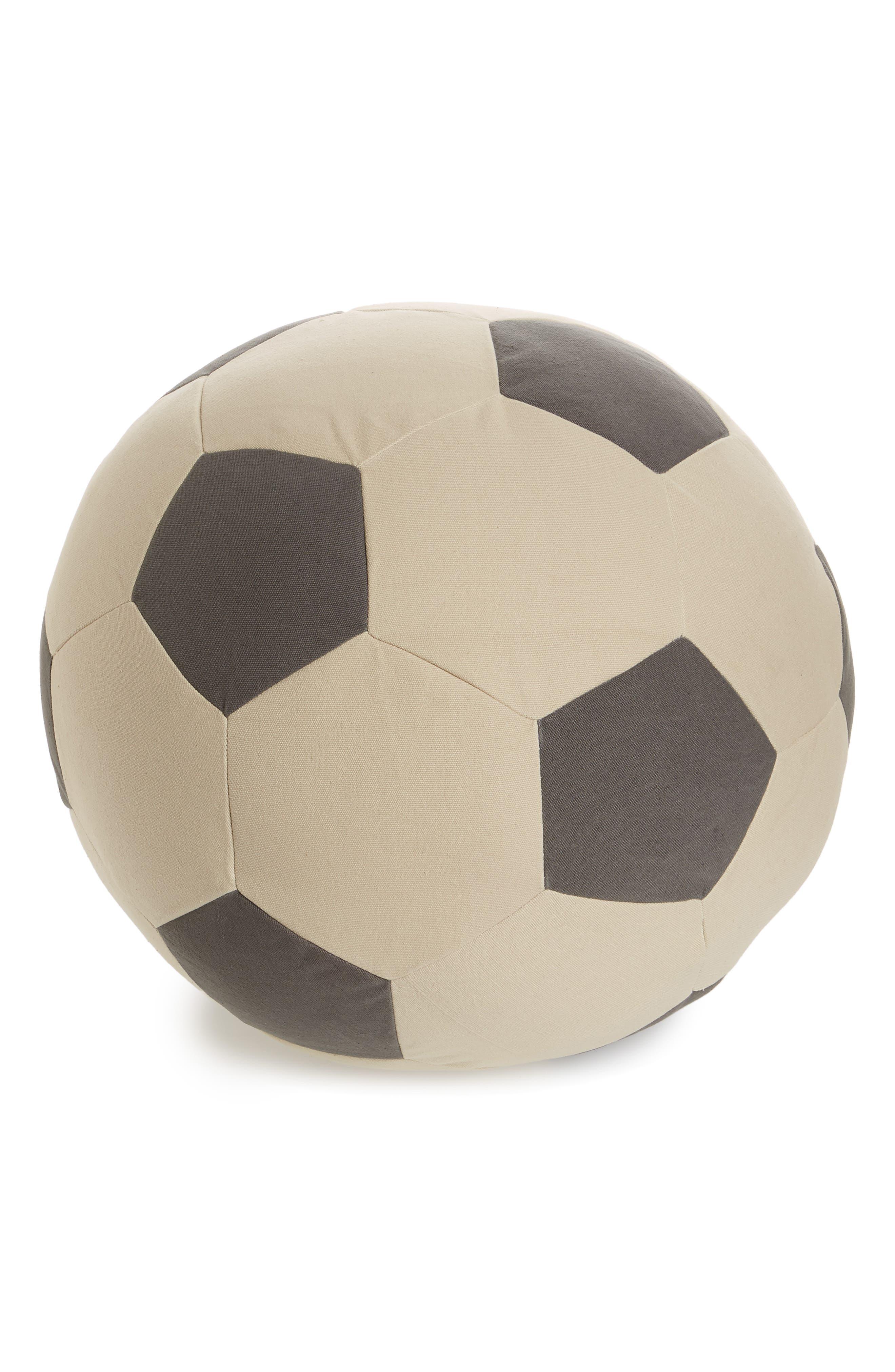 Soccer Pouf,                             Main thumbnail 1, color,                             Black