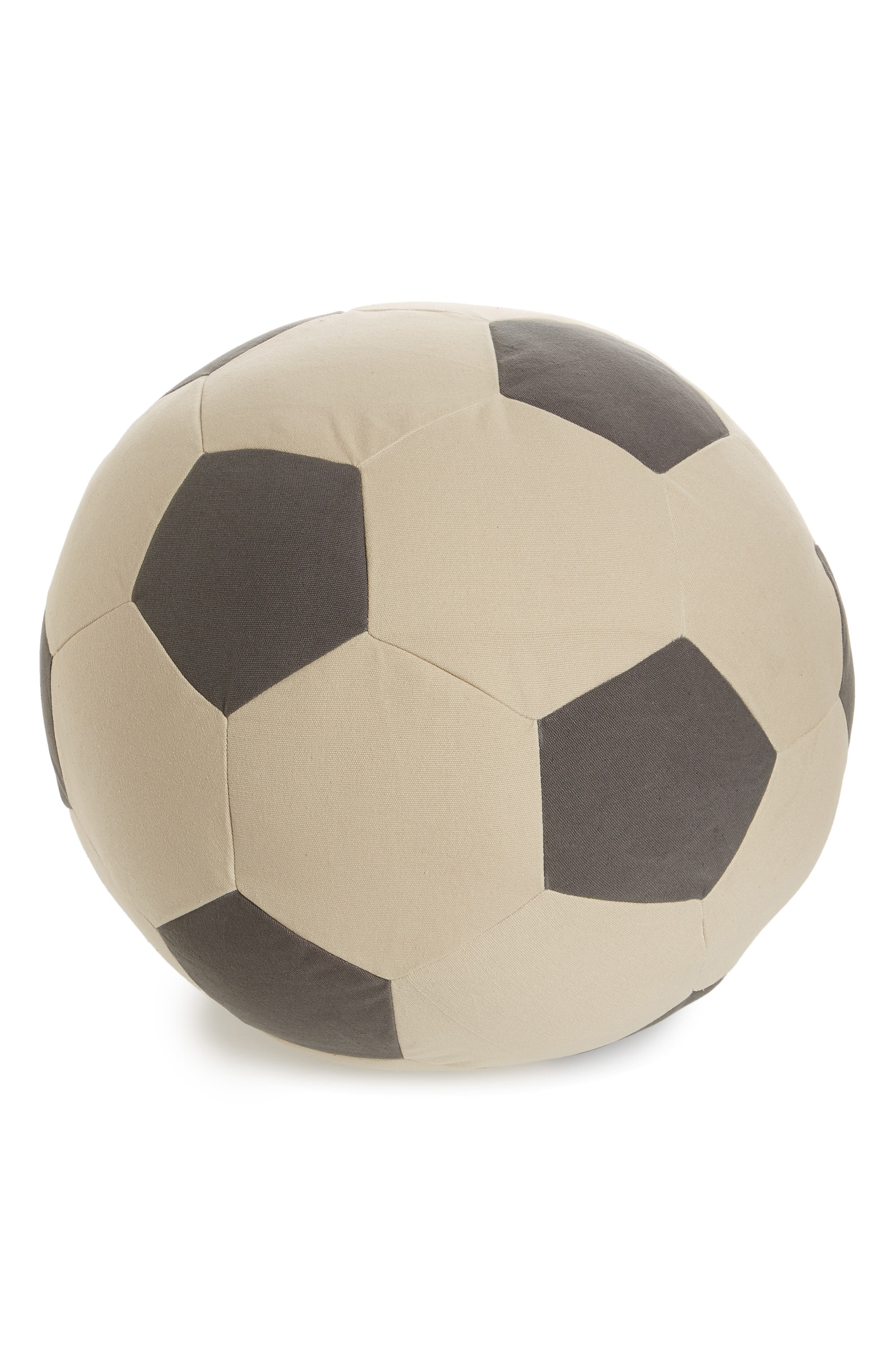 Soccer Pouf,                         Main,                         color, Black