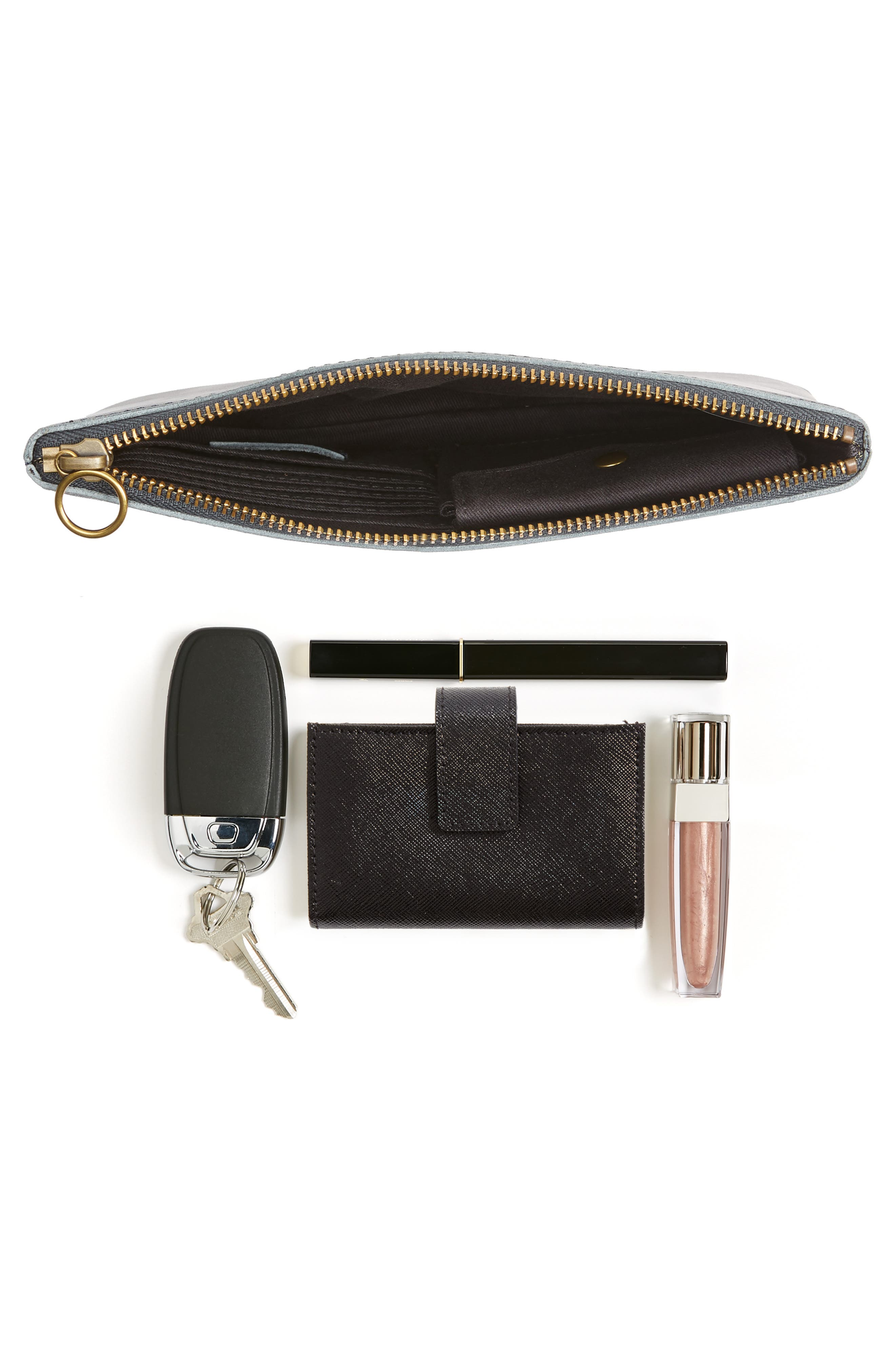 The Leather Pouch Clutch,                             Alternate thumbnail 7, color,