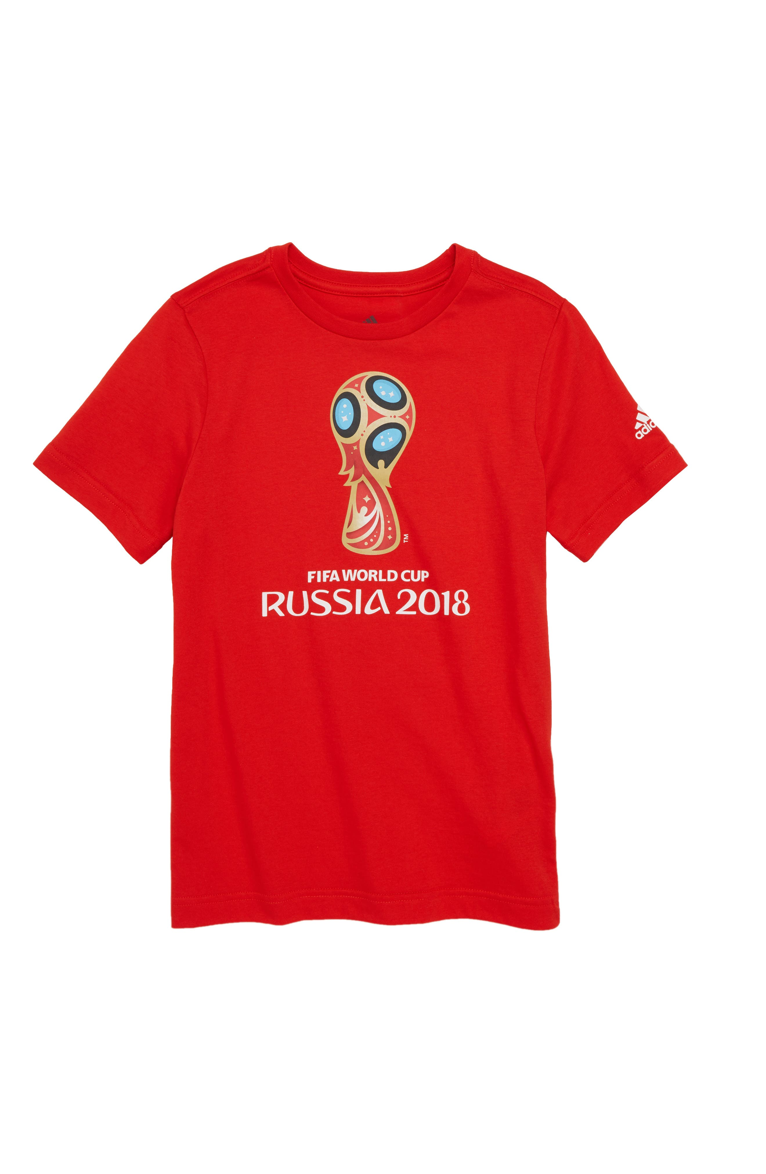 2018 FIFA World Cup Russia Soccer T-Shirt,                             Main thumbnail 1, color,                             Red