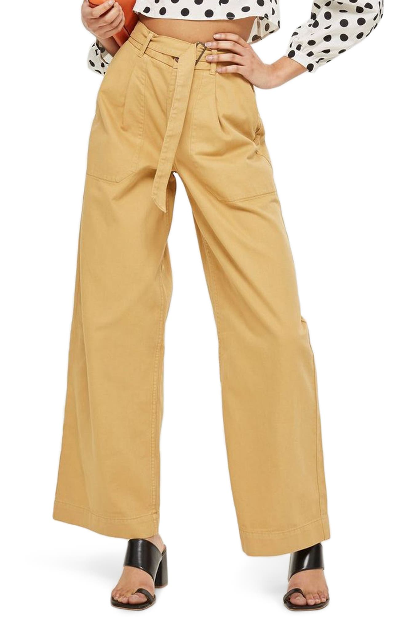 Wonder Wide Chino Trousers,                             Main thumbnail 1, color,                             Stone