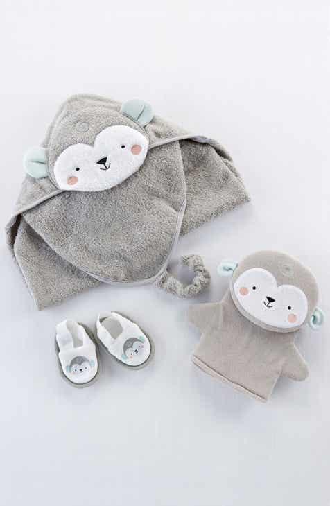 Gift sets baby shower gifts nordstrom baby aspen monkey hooded robe bath mitt slippers set baby negle Choice Image