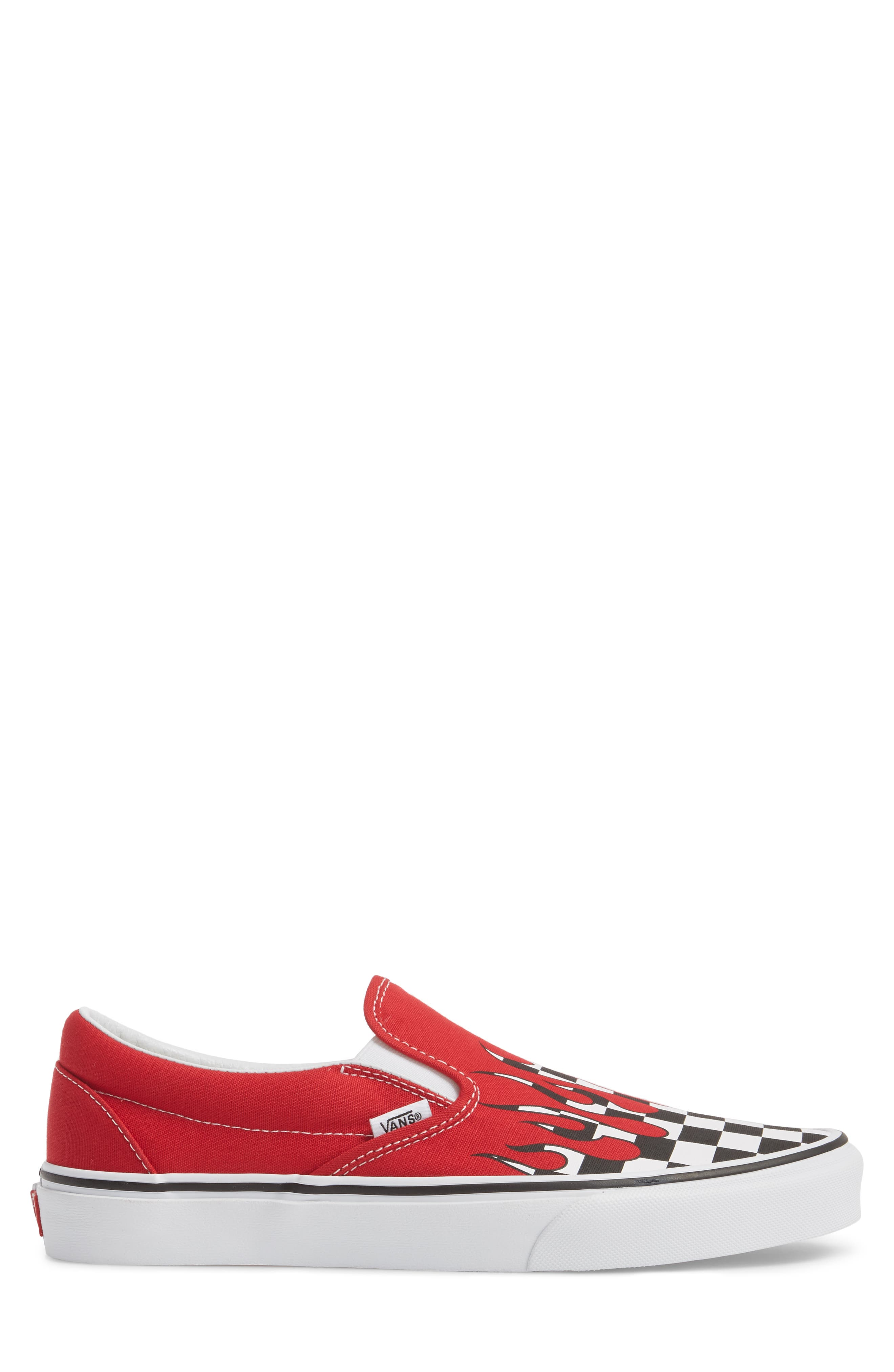 UA Classic Slip-On Sneaker,                             Alternate thumbnail 6, color,                             Racing Red/ White Checker