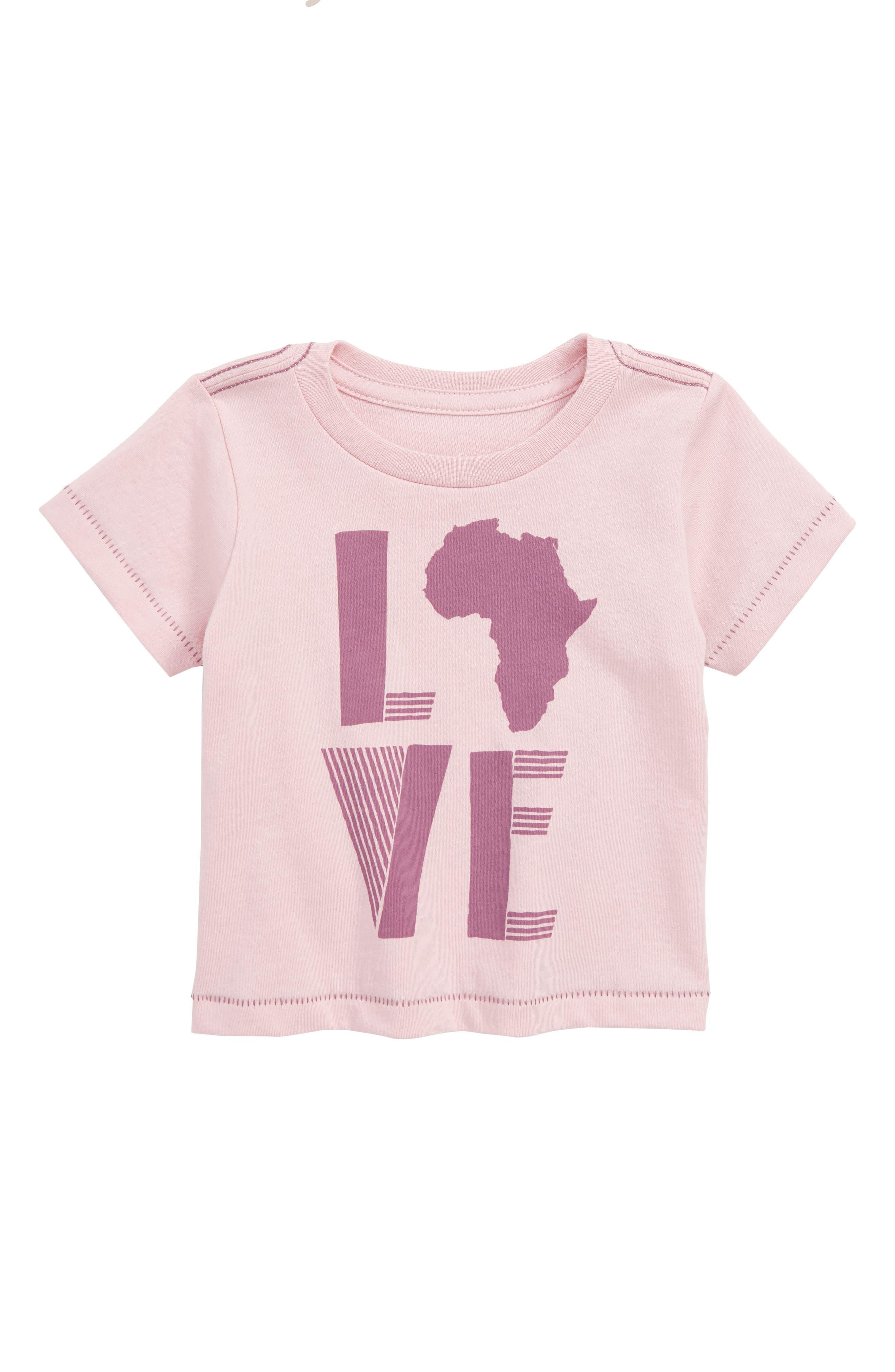 Peek Love Africa Tee,                         Main,                         color, Blush