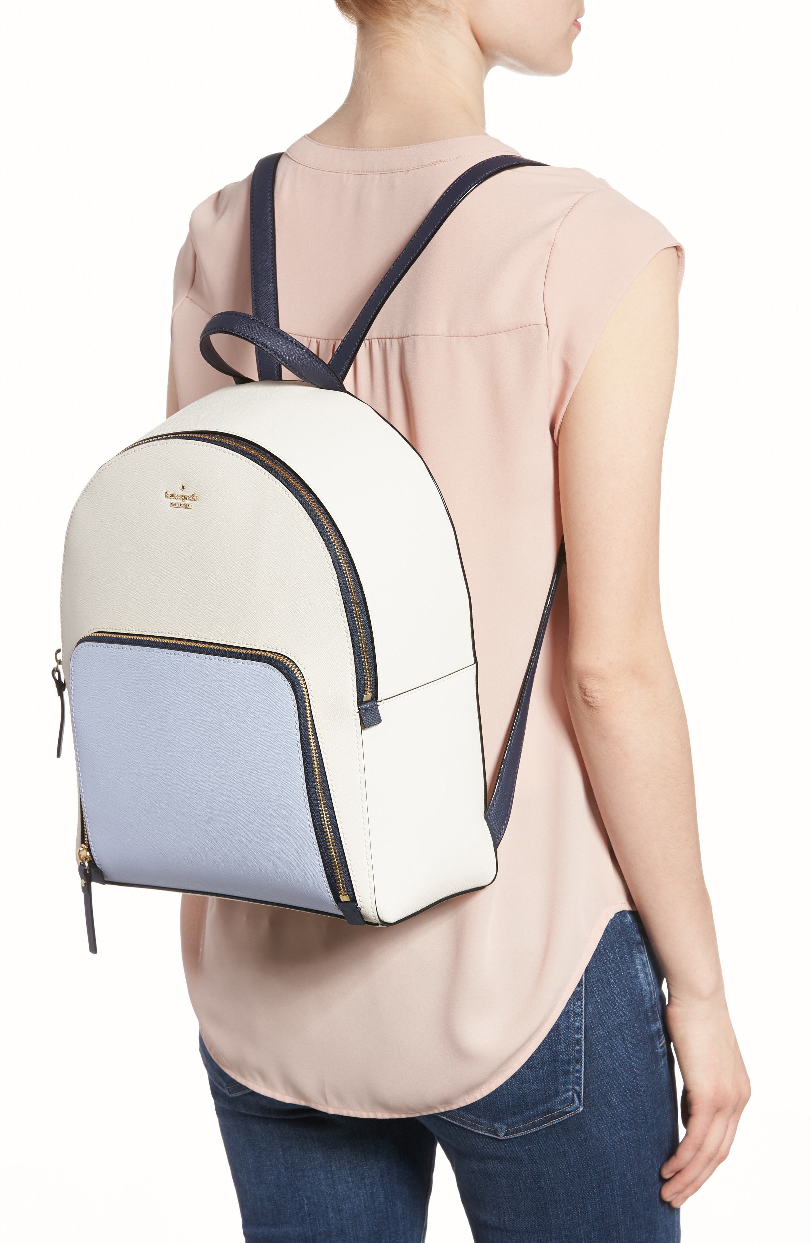 cameron street – hartley leather backpack,                             Alternate thumbnail 2, color,                             Cement/ Morning Multi