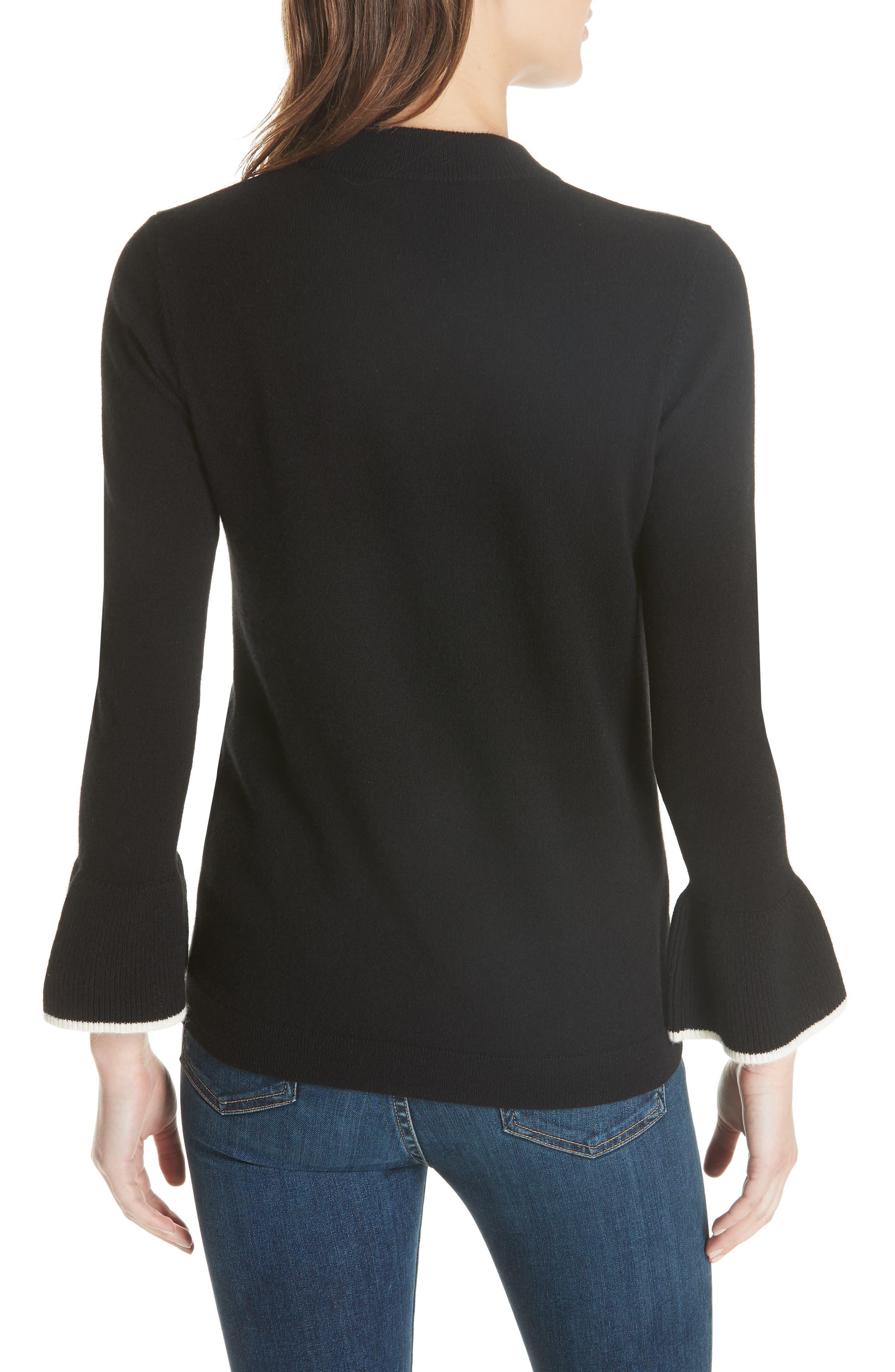 Mar Cashmere Sweater,                             Alternate thumbnail 2, color,                             Black