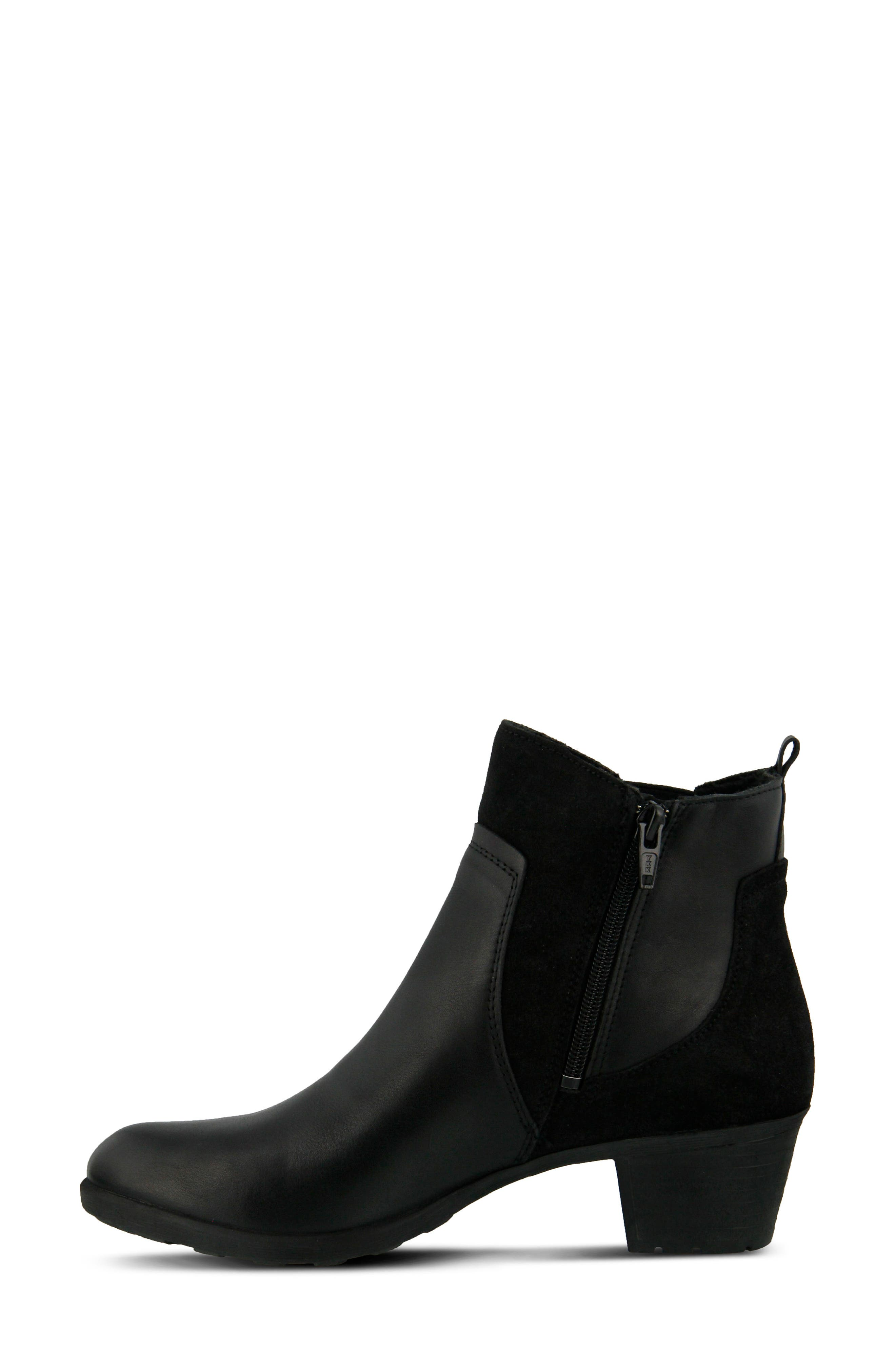 Pousada Bootie,                             Alternate thumbnail 2, color,                             Black Leather
