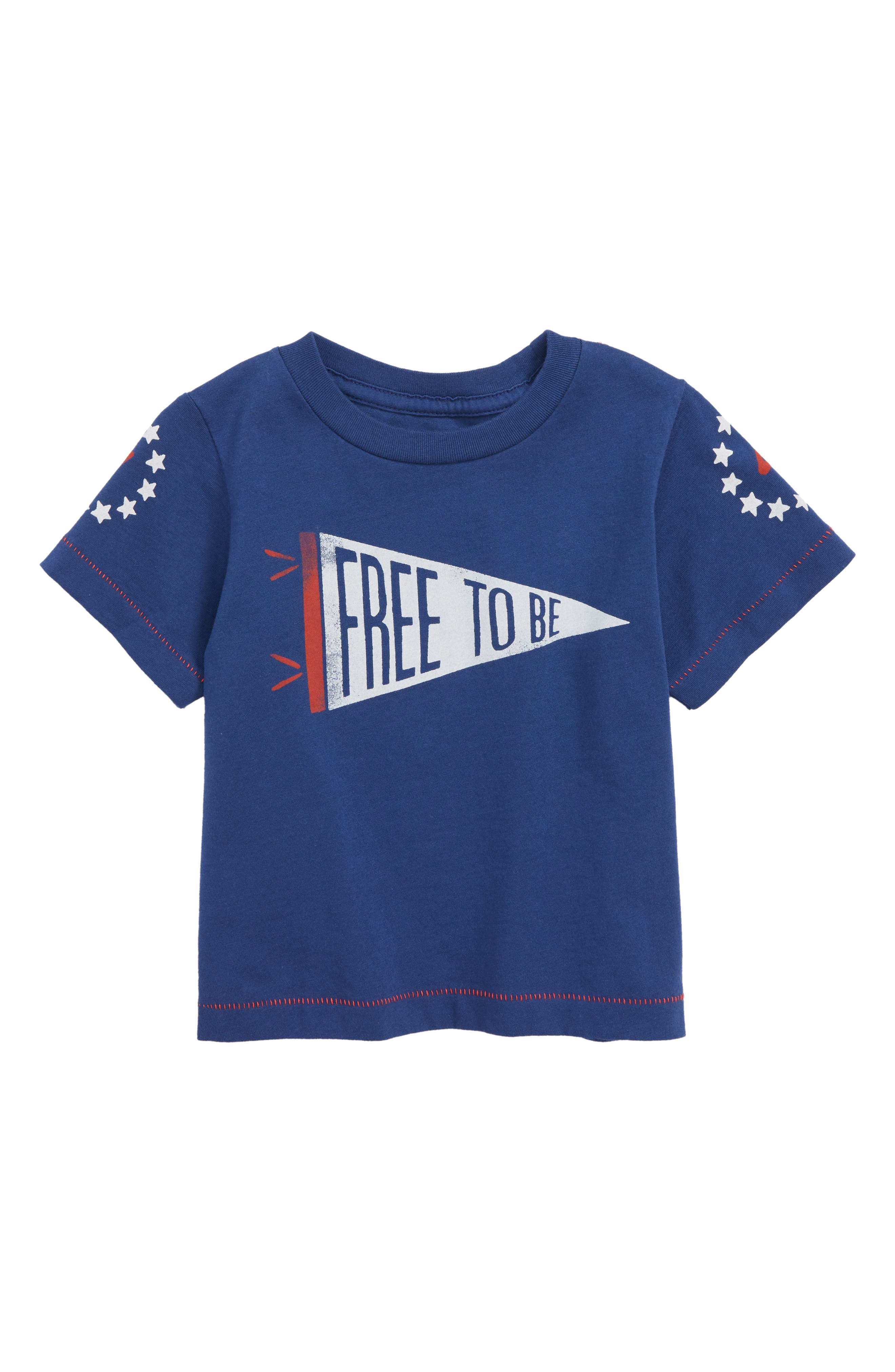 Free to Be T-Shirt,                         Main,                         color, Navy