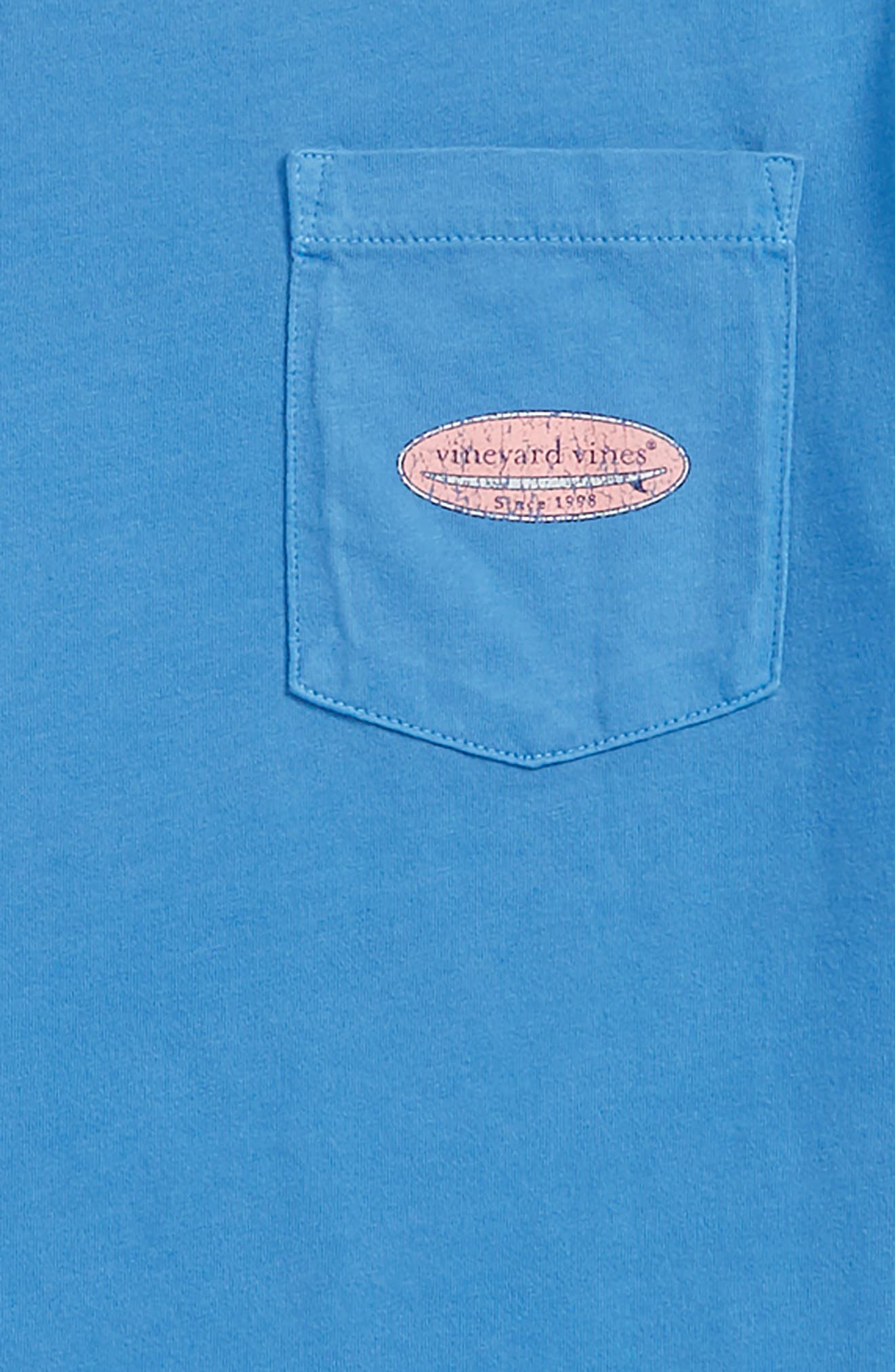Surf Logo Pocket T-Shirt,                             Alternate thumbnail 3, color,                             Hull Blue