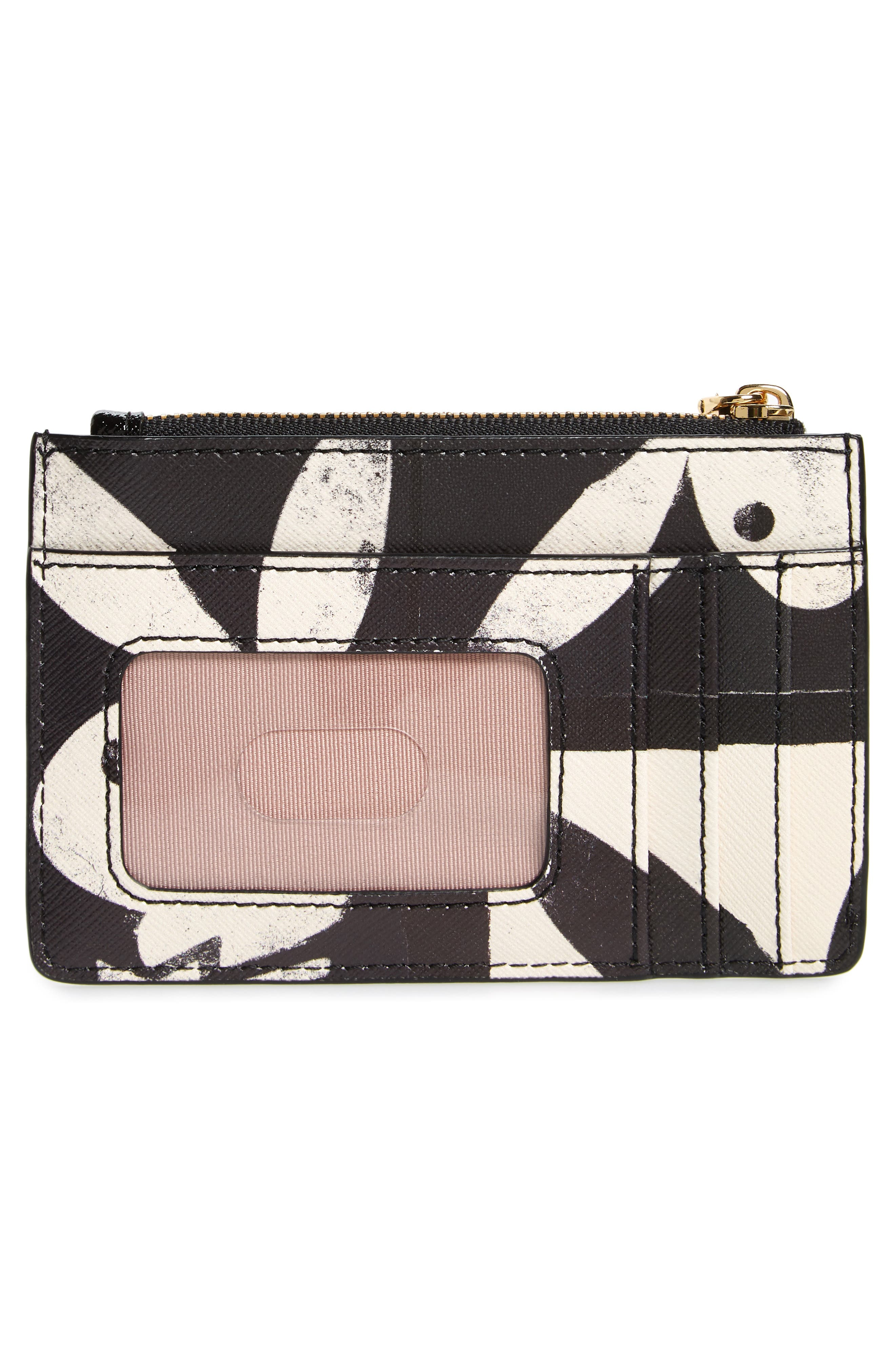 Snapshot Playboy<sup>®</sup> Leather Zip Wallet,                             Alternate thumbnail 3, color,                             Black Multi