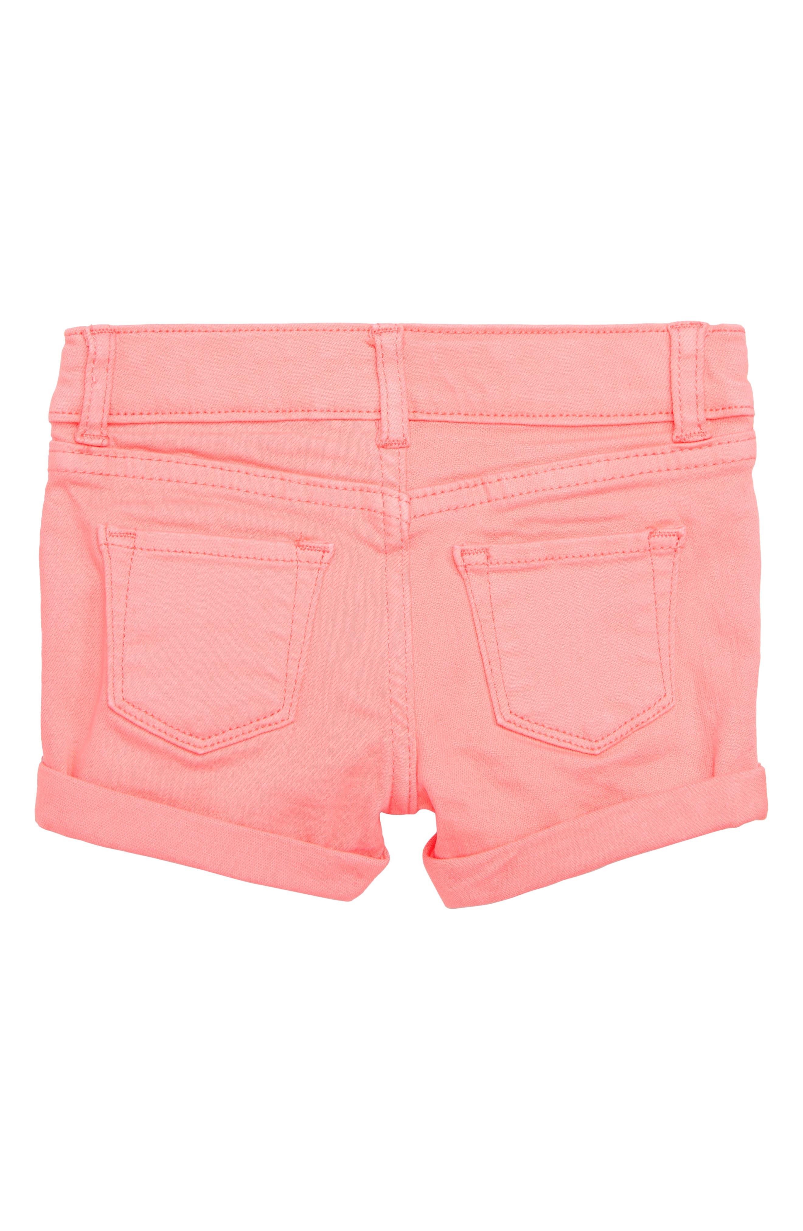 Griffin Stretch Cotton Shorts,                             Alternate thumbnail 2, color,                             Neon Coral