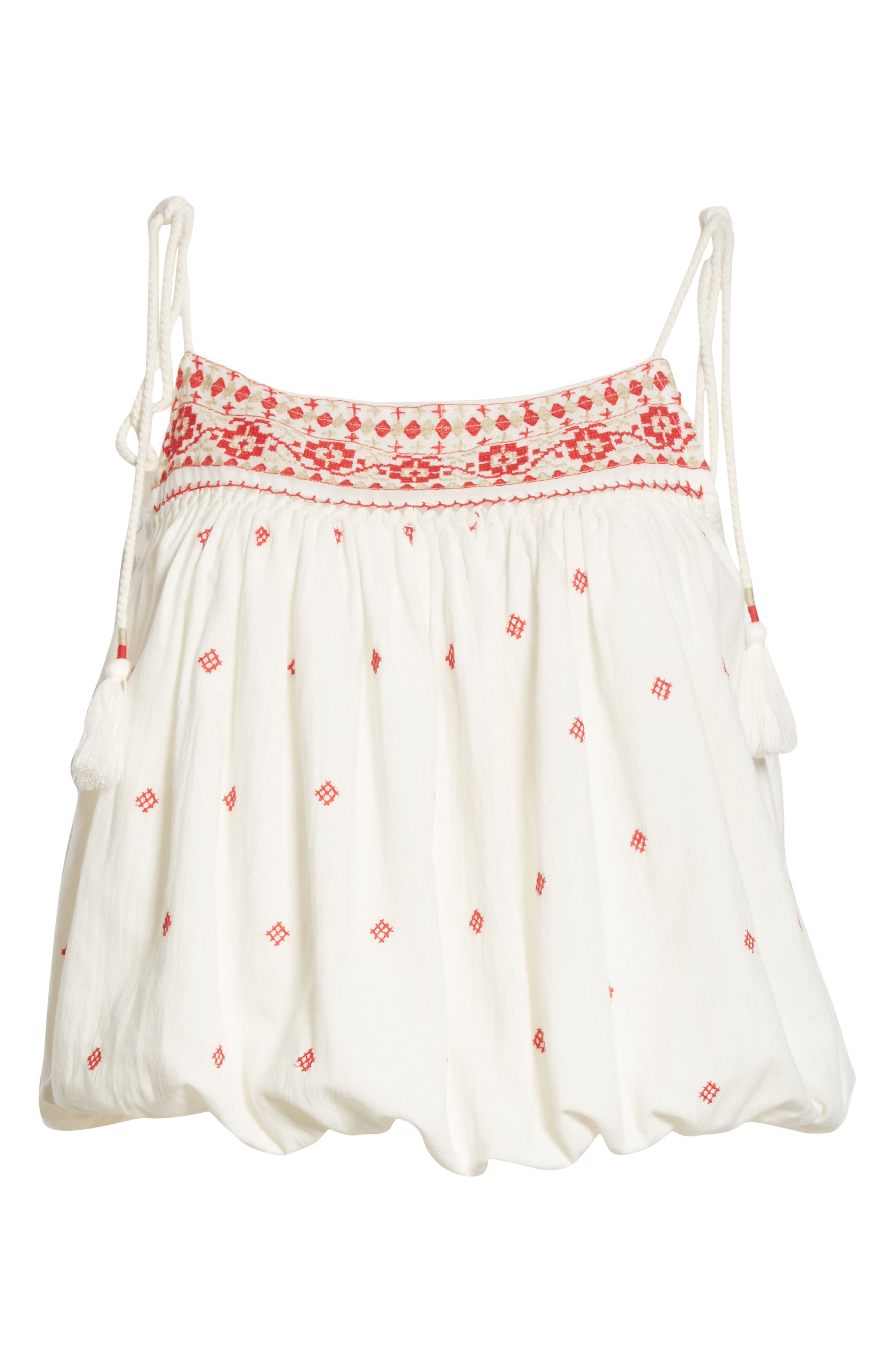 Eternal Love Embroidered Top,                             Alternate thumbnail 6, color,                             Ivory
