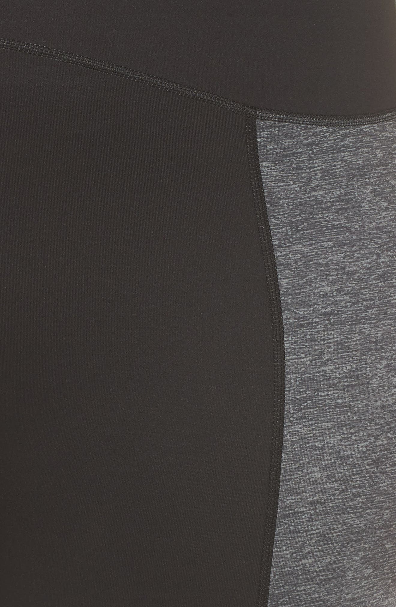 Colorblock Active Leggings,                             Alternate thumbnail 6, color,                             Marled Heather