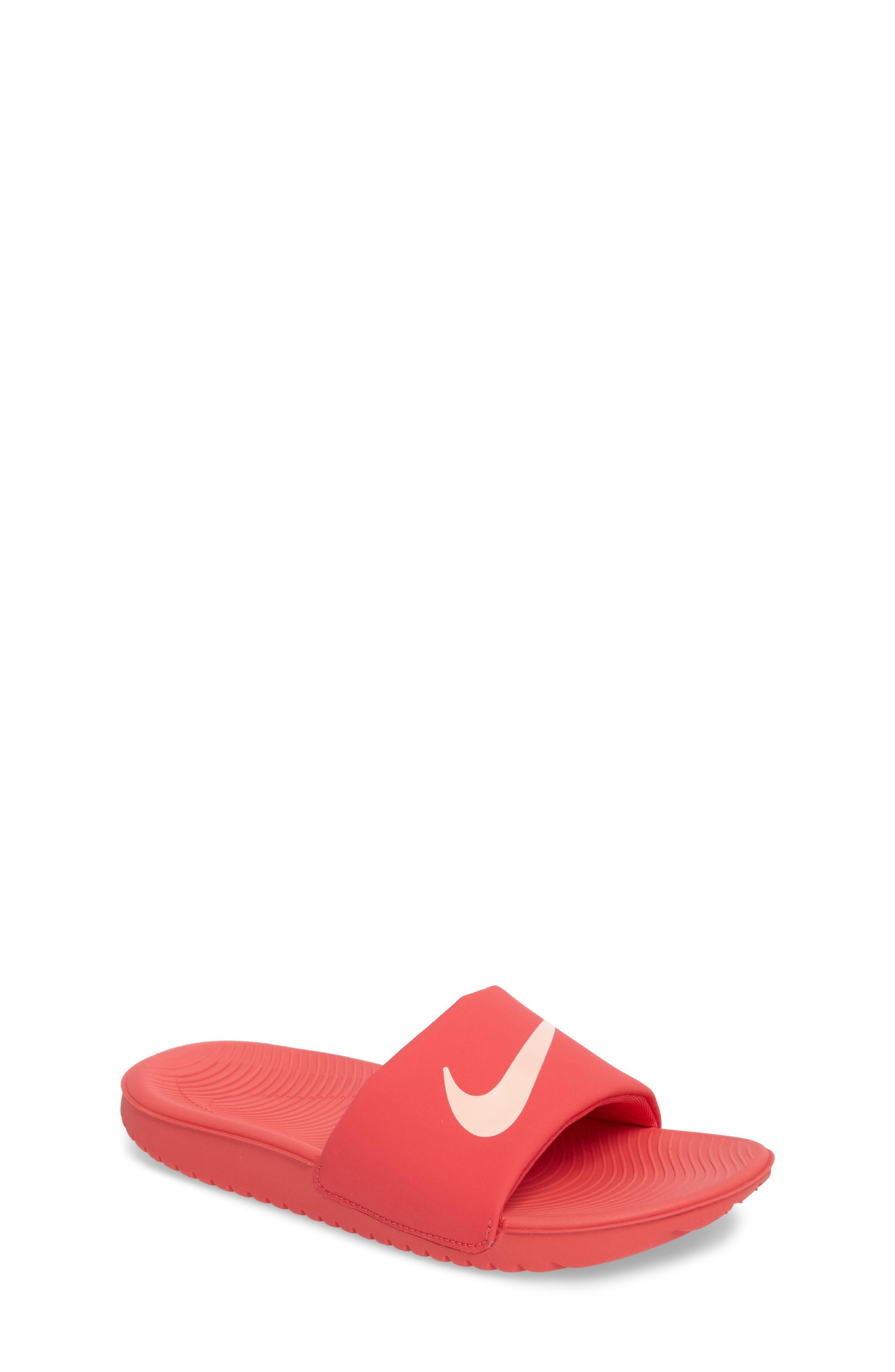 'Kawa' Slide Sandal,                             Main thumbnail 1, color,                             Tropical Pink/ Bleached Coral