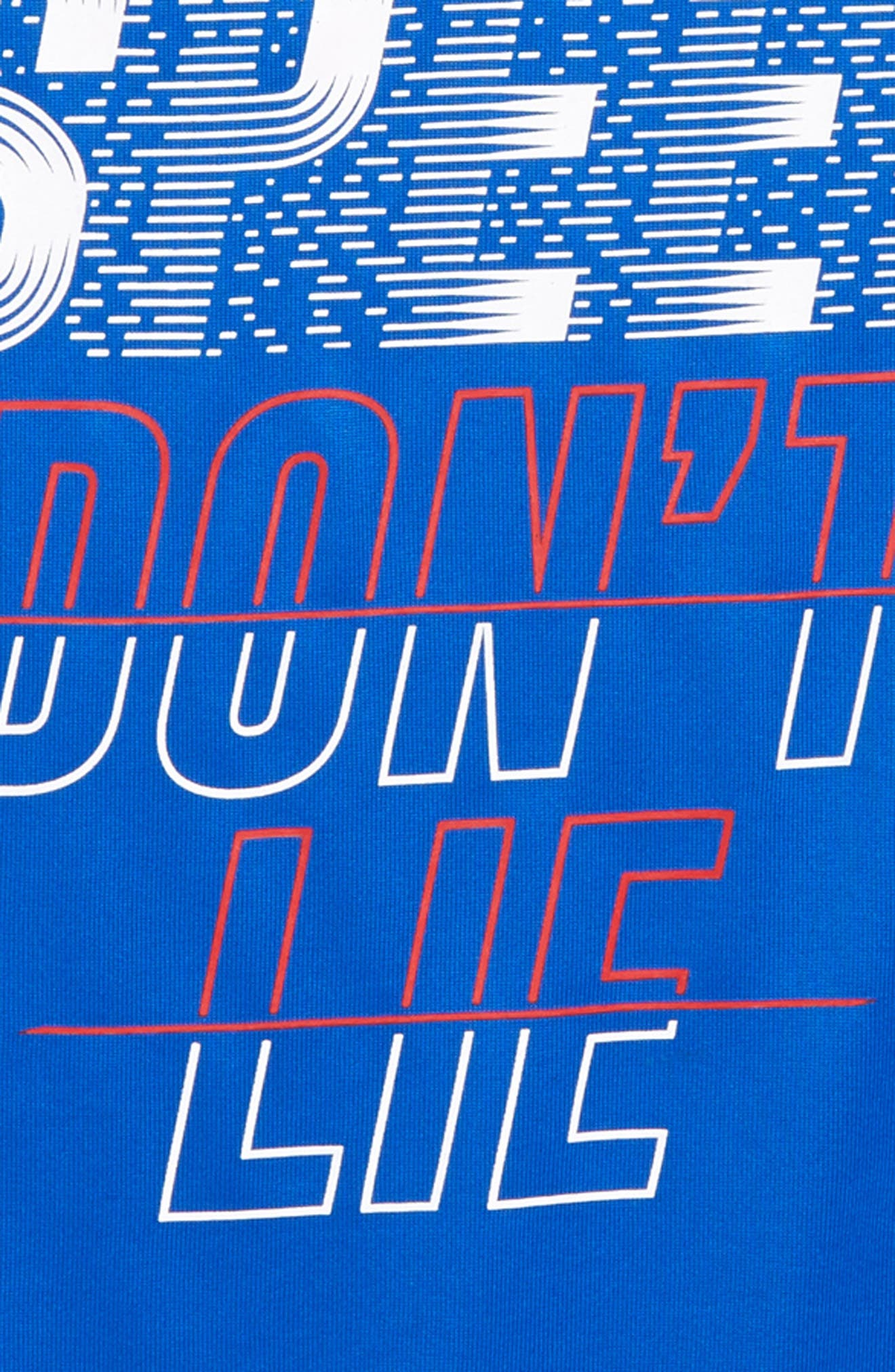 Speed Don't Lie HeatGear<sup>®</sup> T-Shirt,                             Alternate thumbnail 2, color,                             Ultra Blue