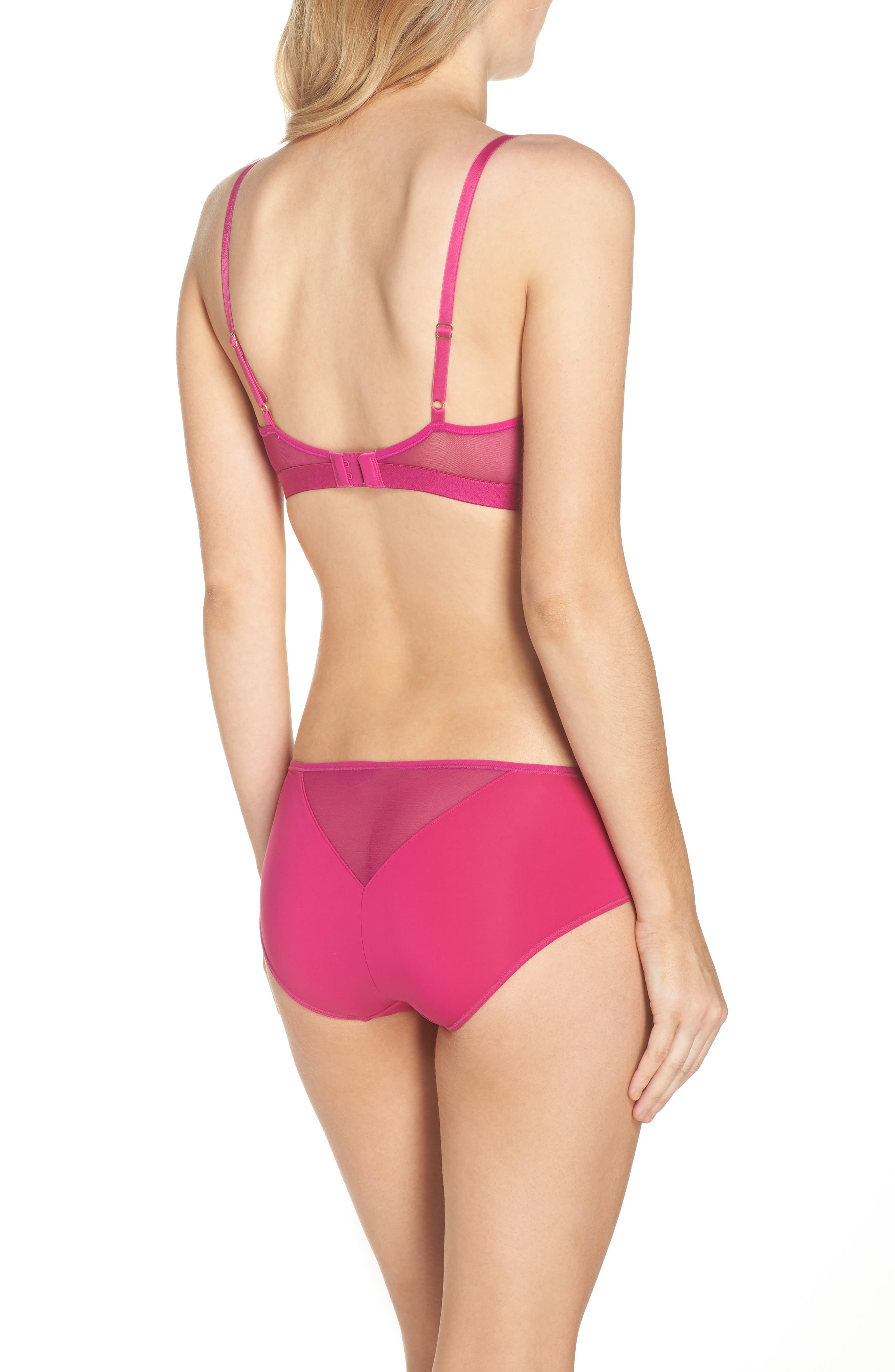 Highlight Wireless Bra,                             Alternate thumbnail 5, color,                             Wild Orchid
