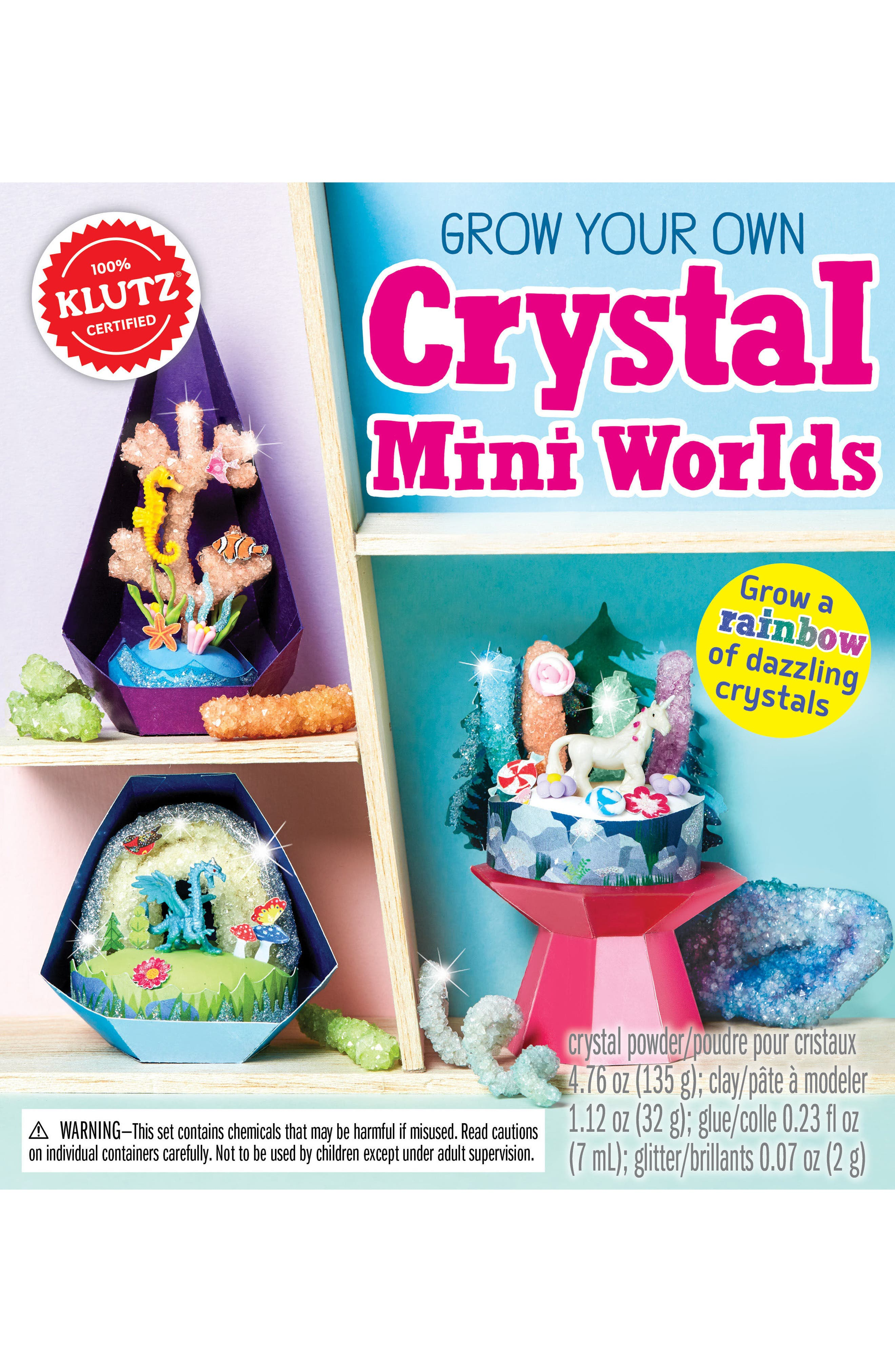 Grow Your Own Crystal Mini Worlds Kit,                             Main thumbnail 1, color,                             None