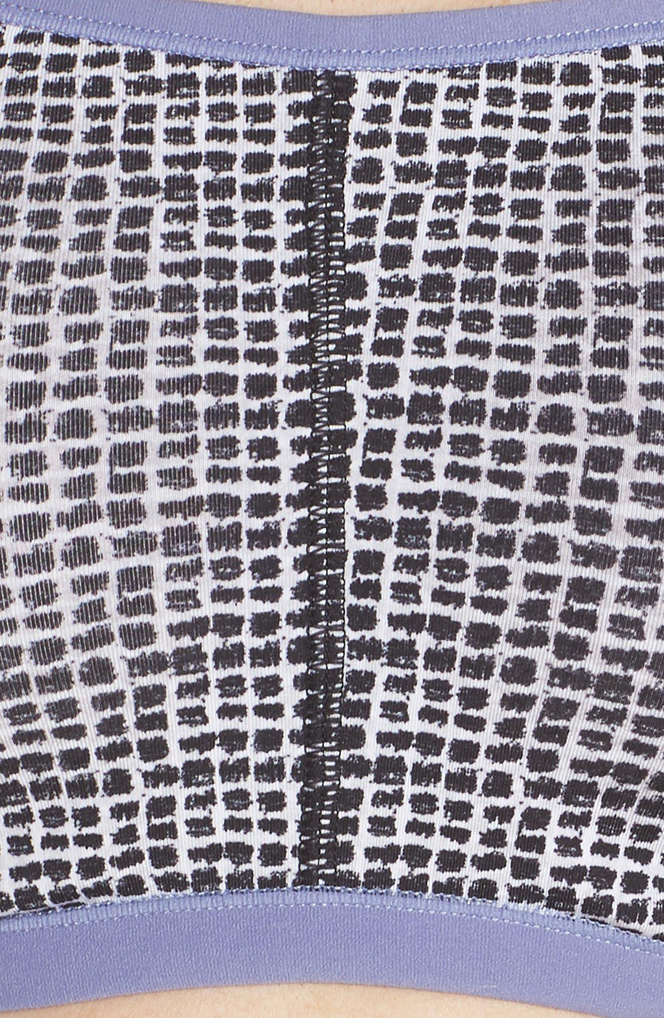 'Yogi' Convertible Bra,                             Alternate thumbnail 7, color,                             Black Rattan Print/ Chambray