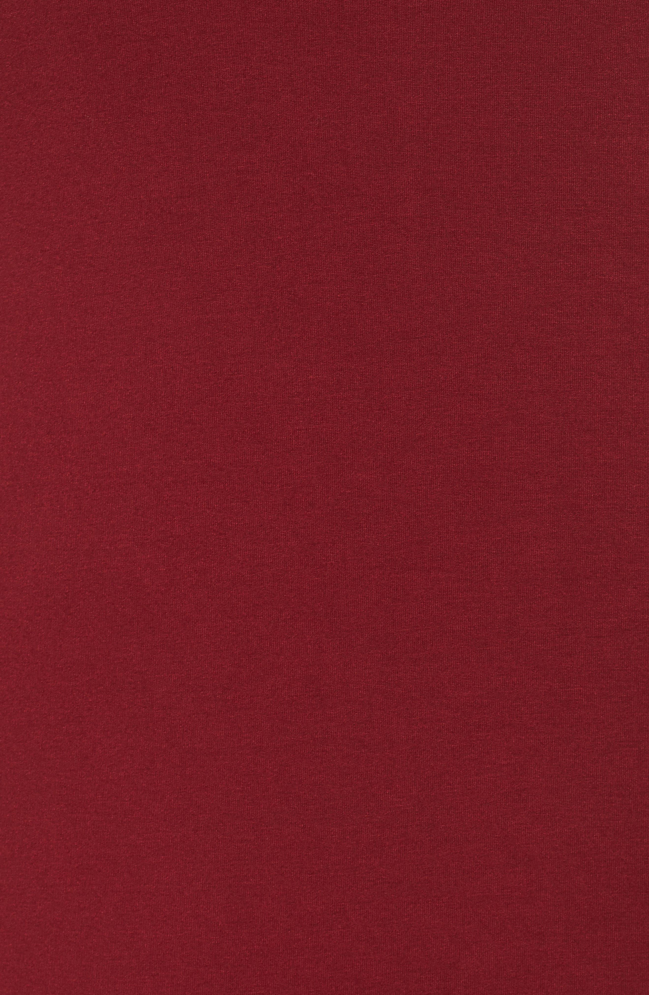 Tie Strap Knit Maxi Dress,                             Alternate thumbnail 6, color,                             Wine