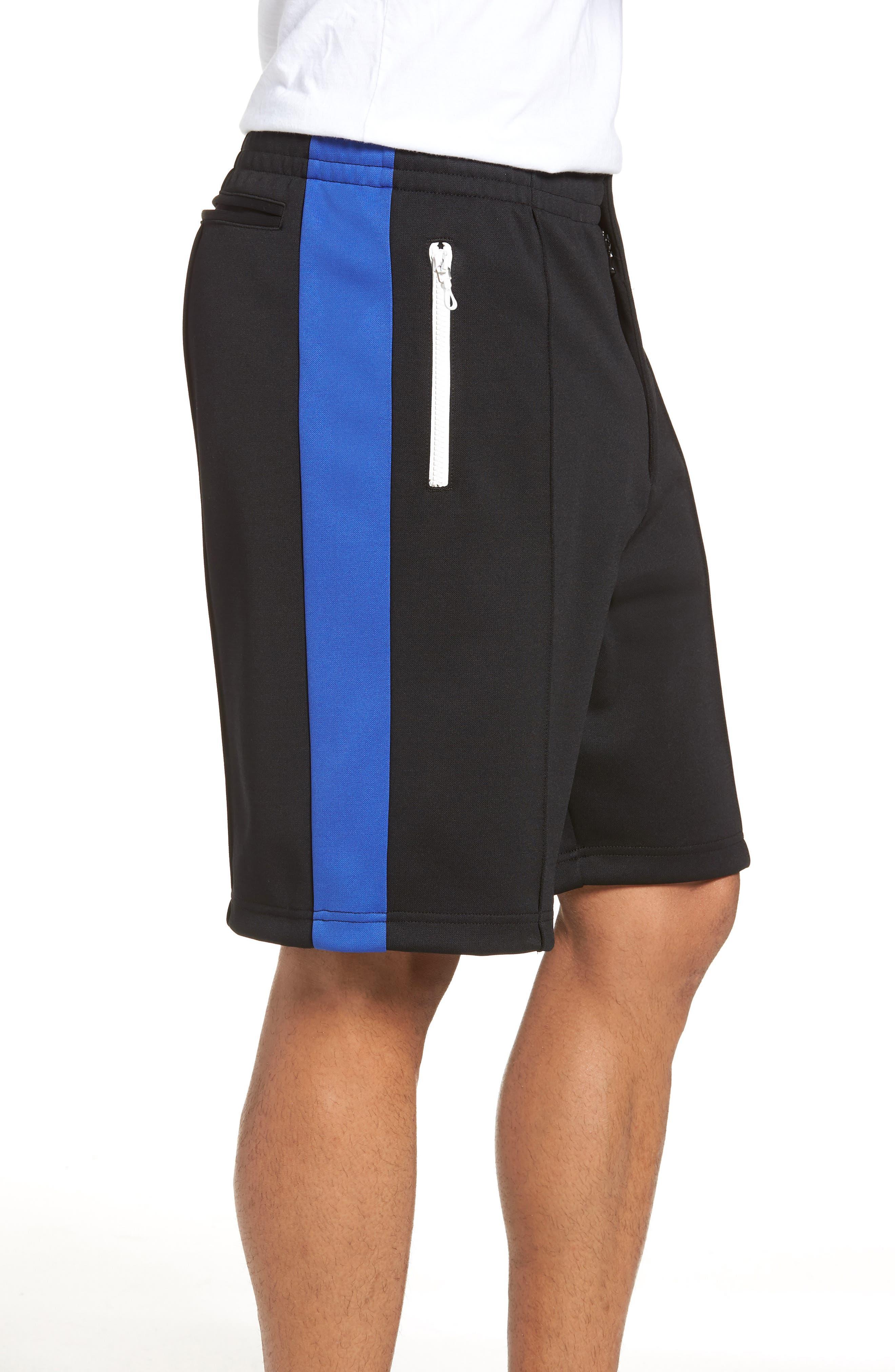 Stripe Shorts,                             Alternate thumbnail 3, color,                             Blue/ White/ Black