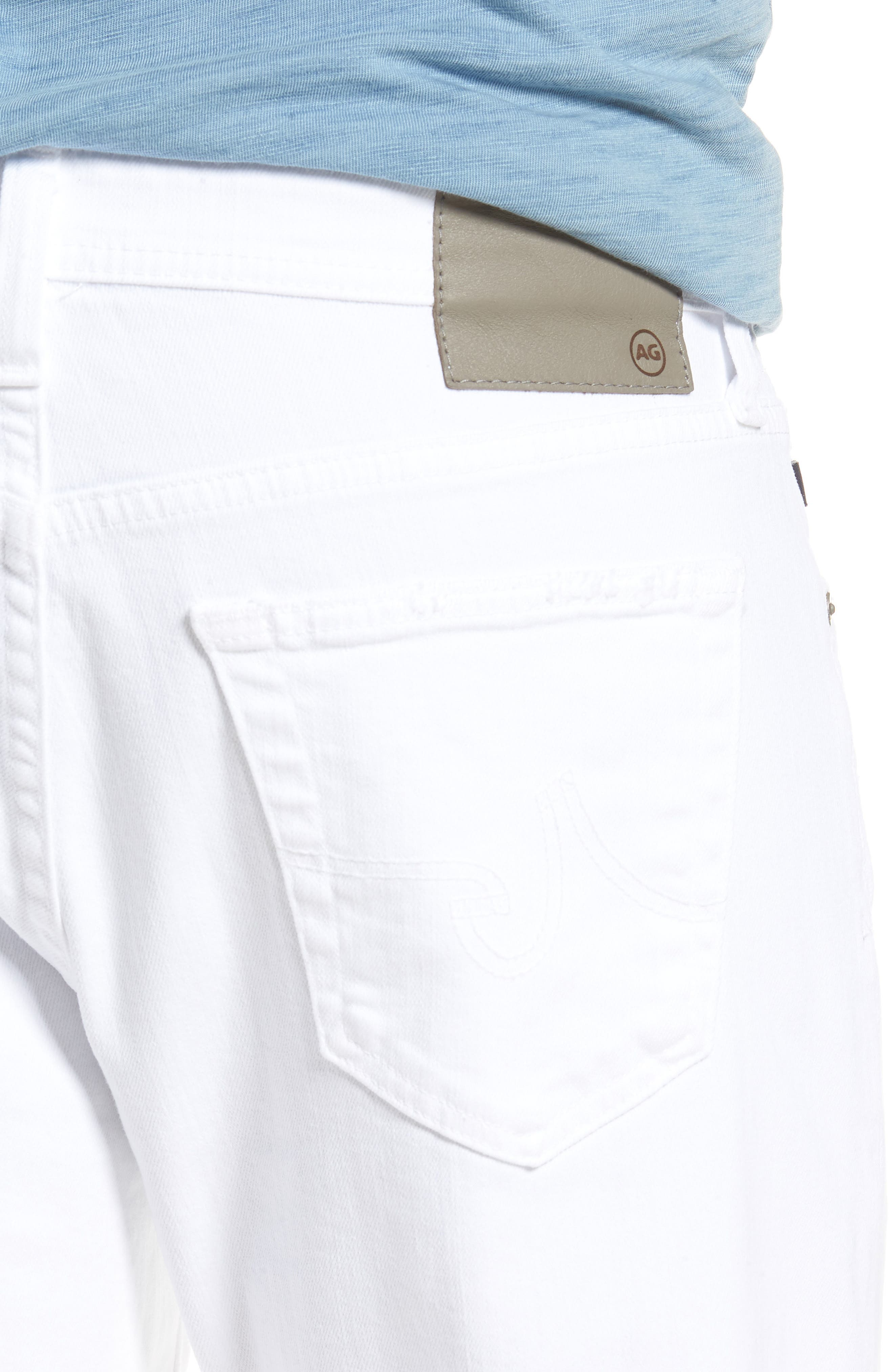 Everett Slim Straight Leg Jeans,                             Alternate thumbnail 4, color,                             White Crash