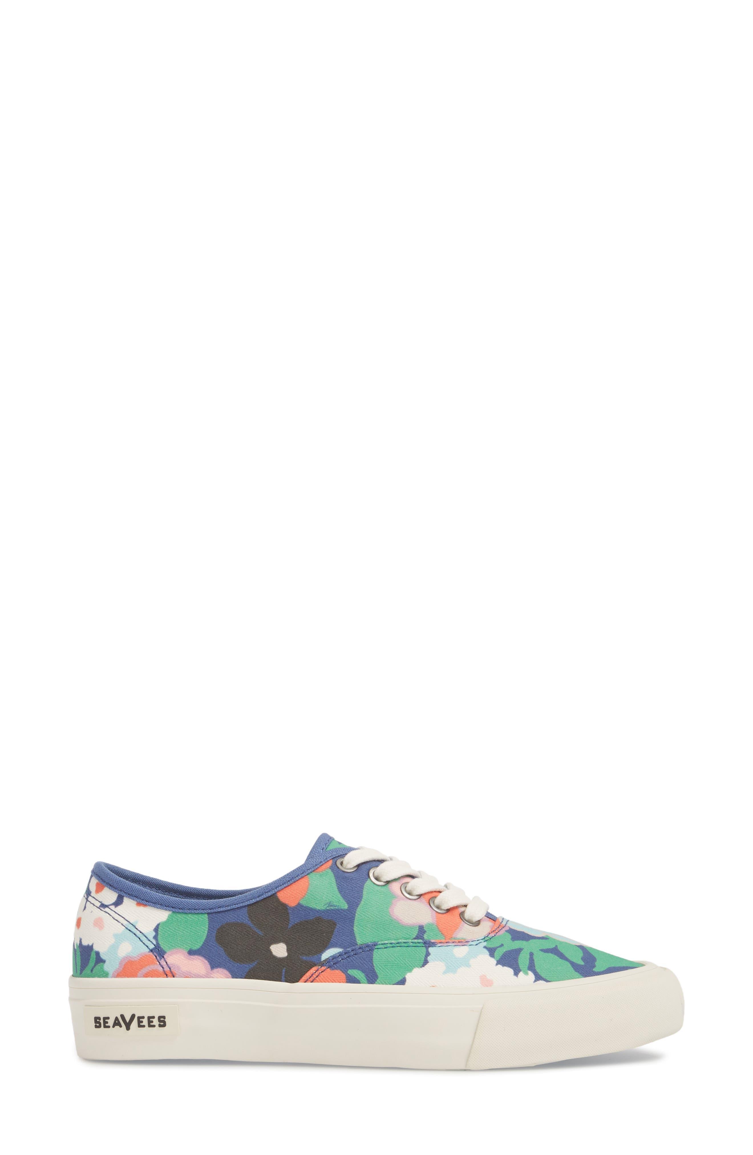 x Trina Turk Legend Sneaker,                             Alternate thumbnail 3, color,                             Greenhouse Floral