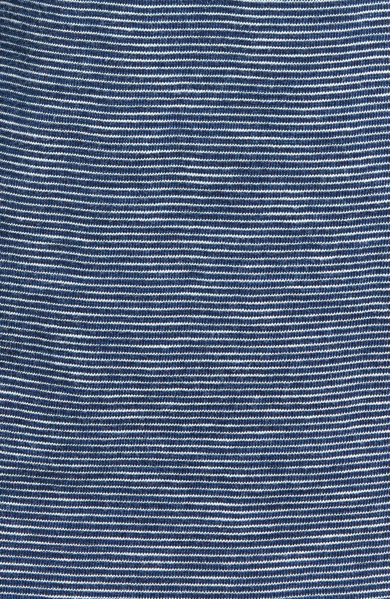 Feeder Stripe Jersey Polo,                             Alternate thumbnail 5, color,                             Dark Wash Feeder Stripe