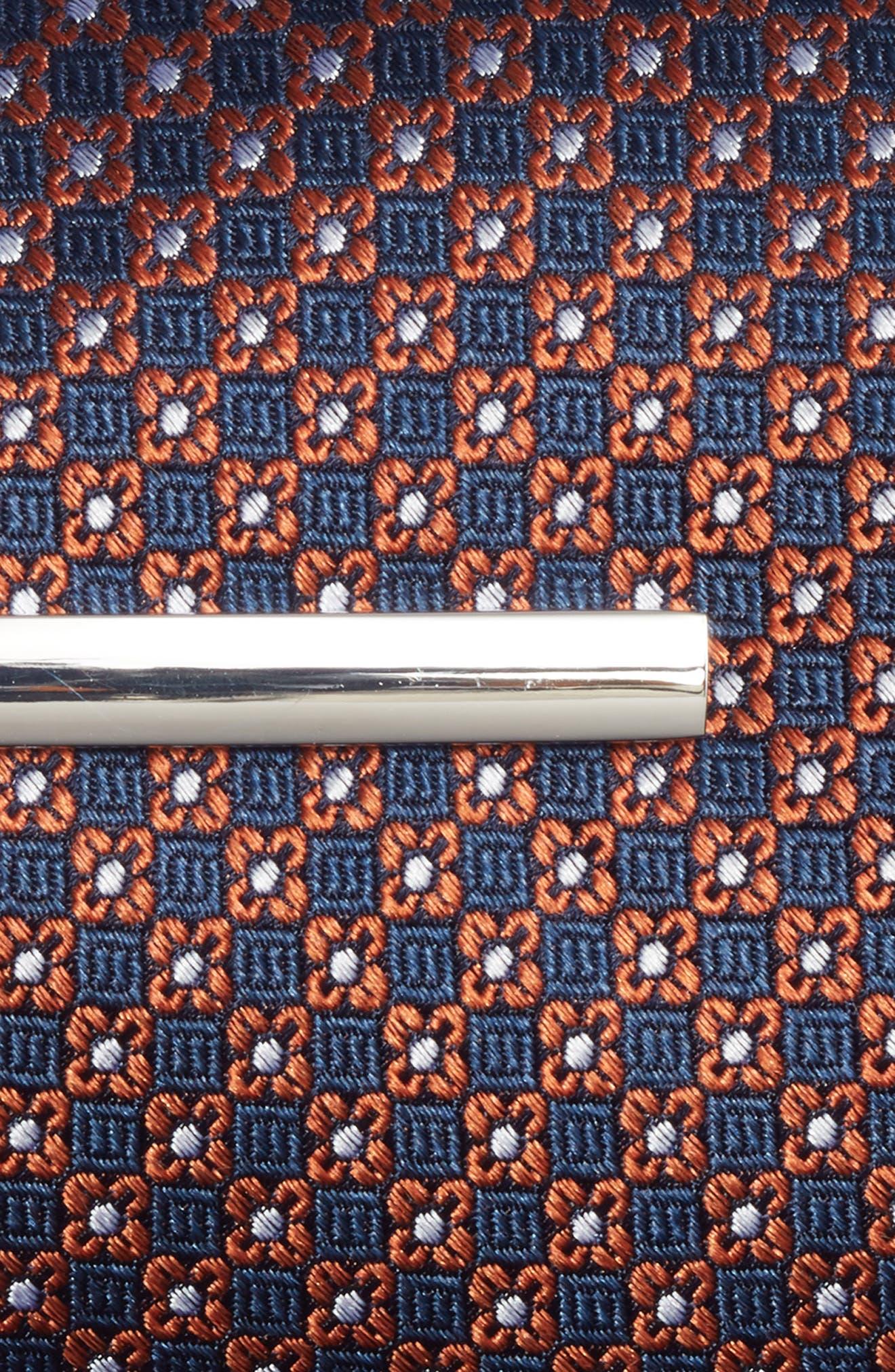 Flower Network 3-Piece Skinny Tie Style Box,                             Alternate thumbnail 3, color,                             Orange
