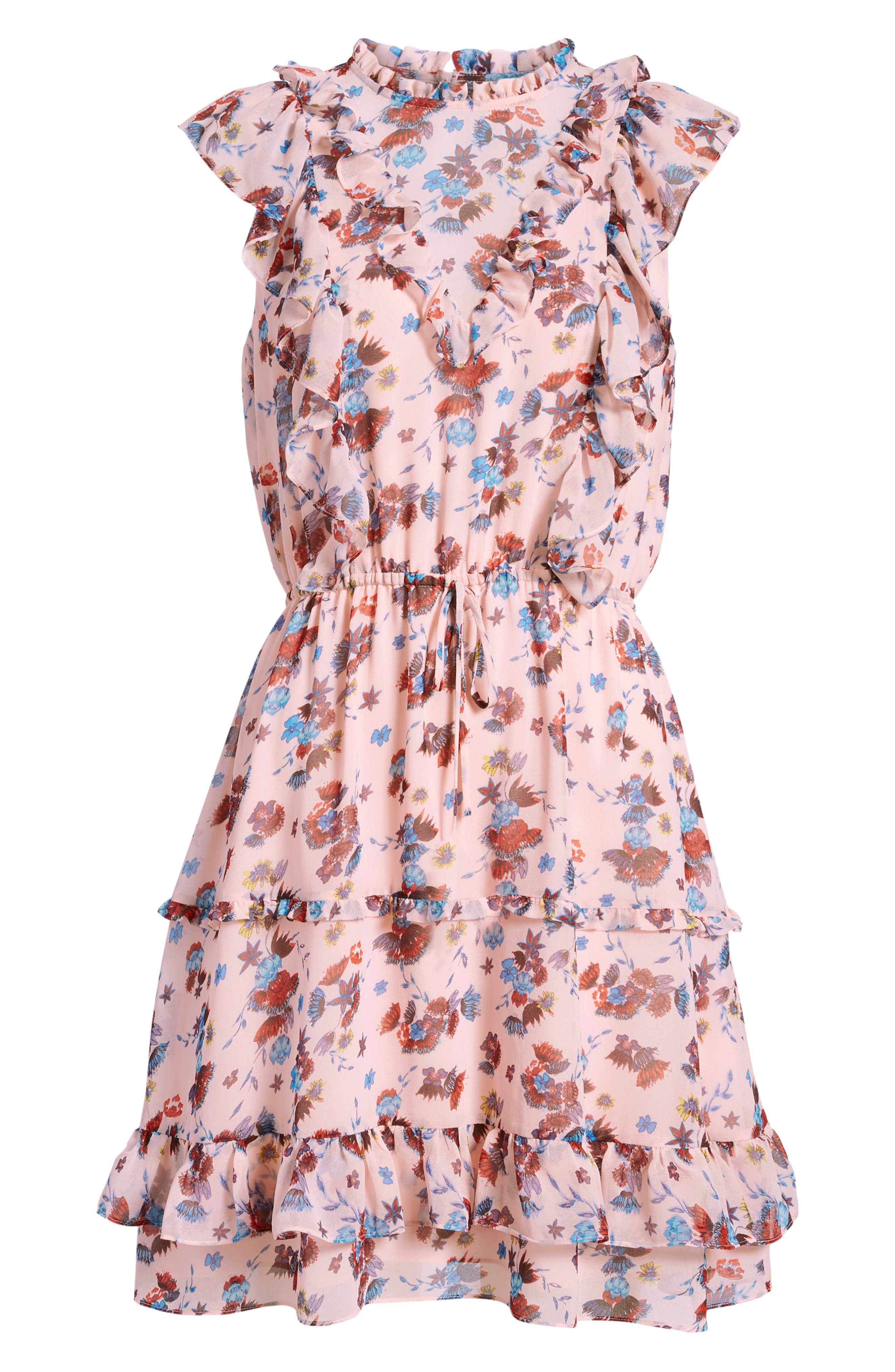 Kika Dress,                             Alternate thumbnail 7, color,                             Pink Multi