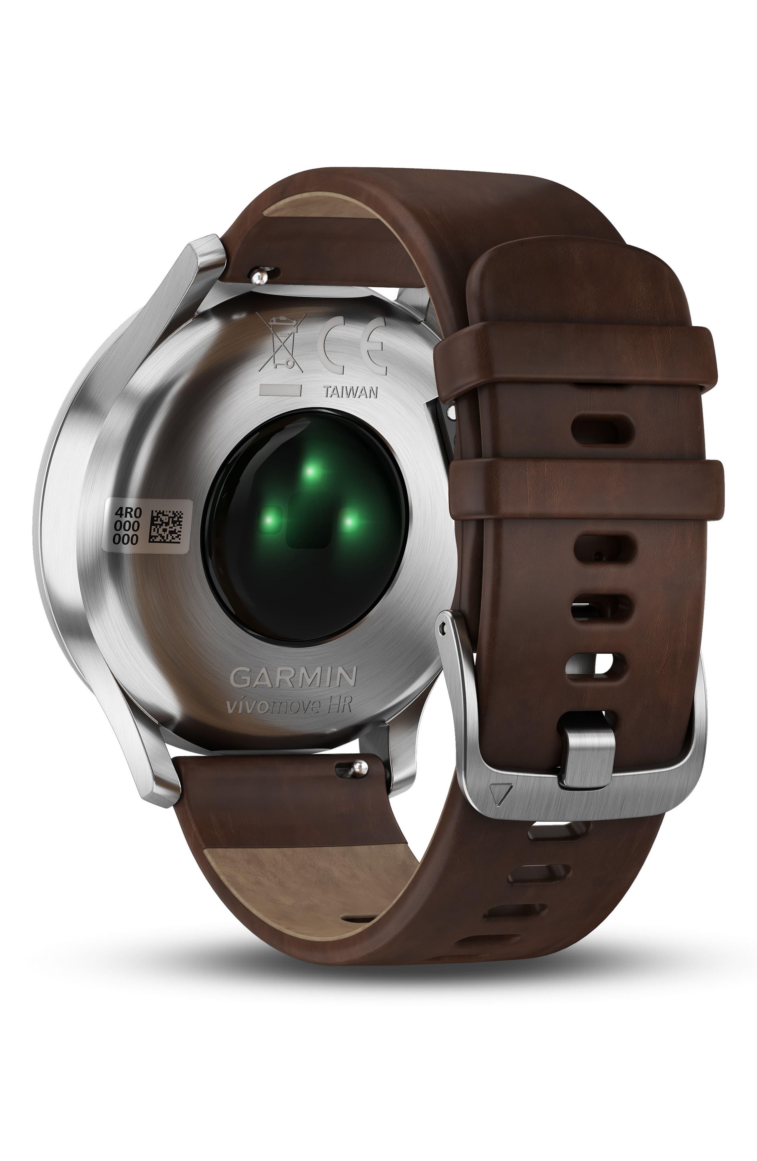 Vivomove HR Hybrid Smart Watch,                             Alternate thumbnail 6, color,                             Brown/ Black/ Silver