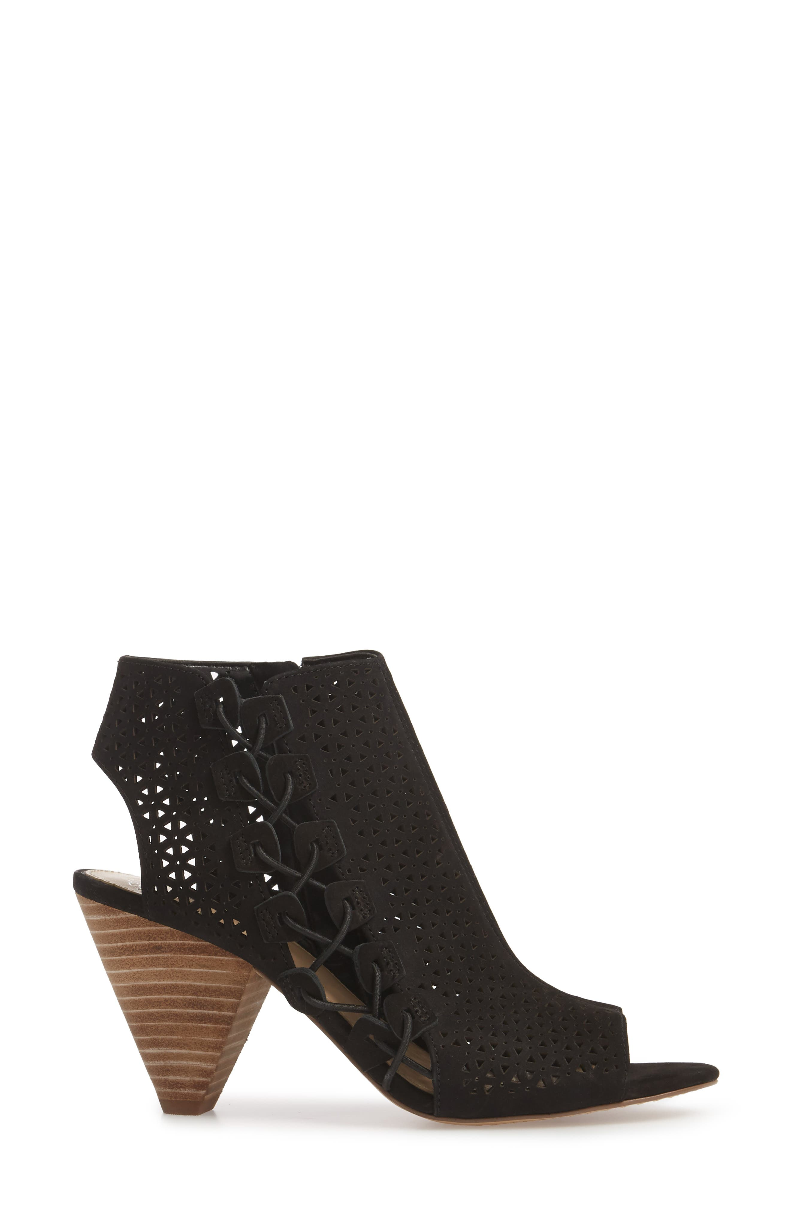Elison Bootie,                             Alternate thumbnail 3, color,                             Black Leather